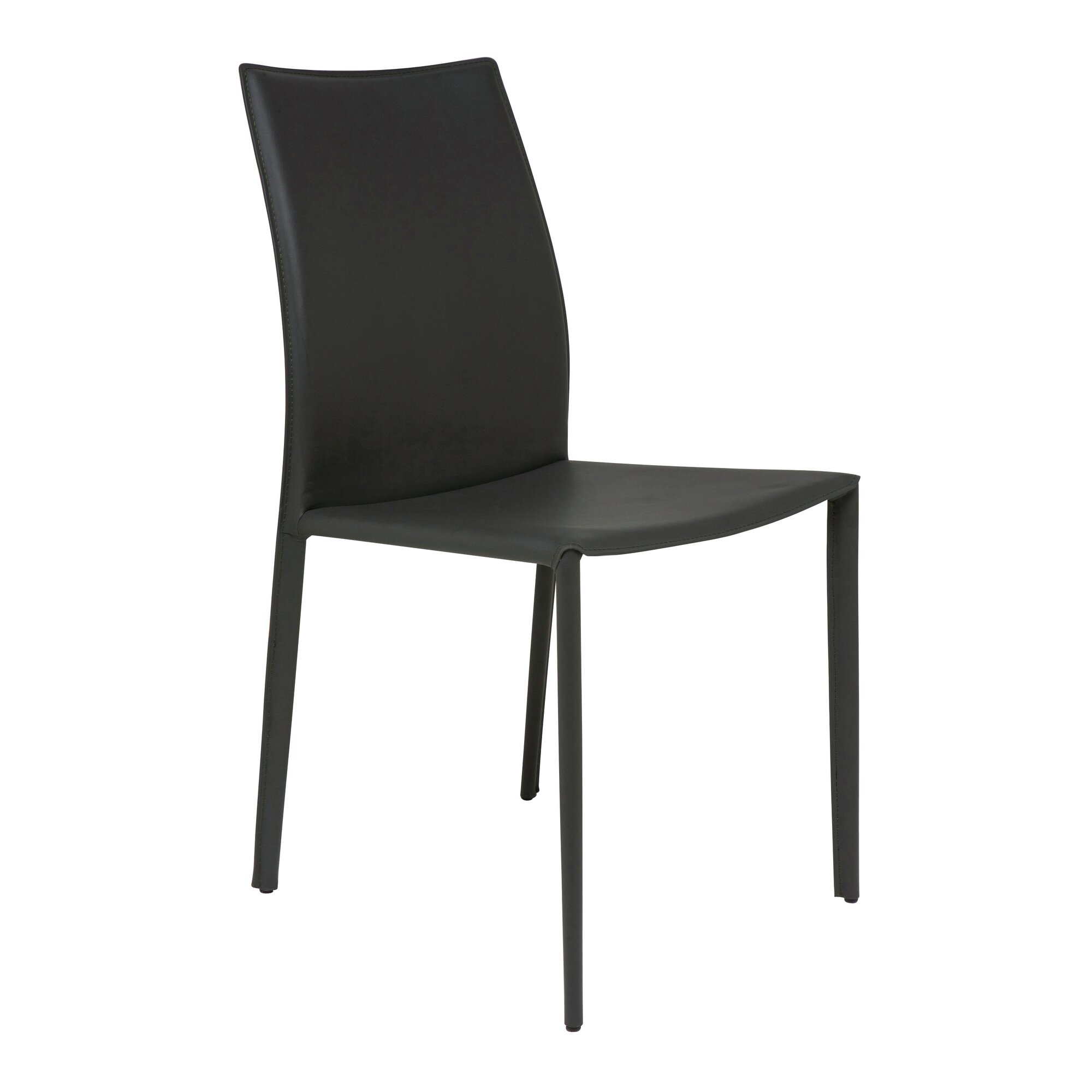 Black upholstered dining chairs - Sienna Genuine Leather Upholstered Dining Chair