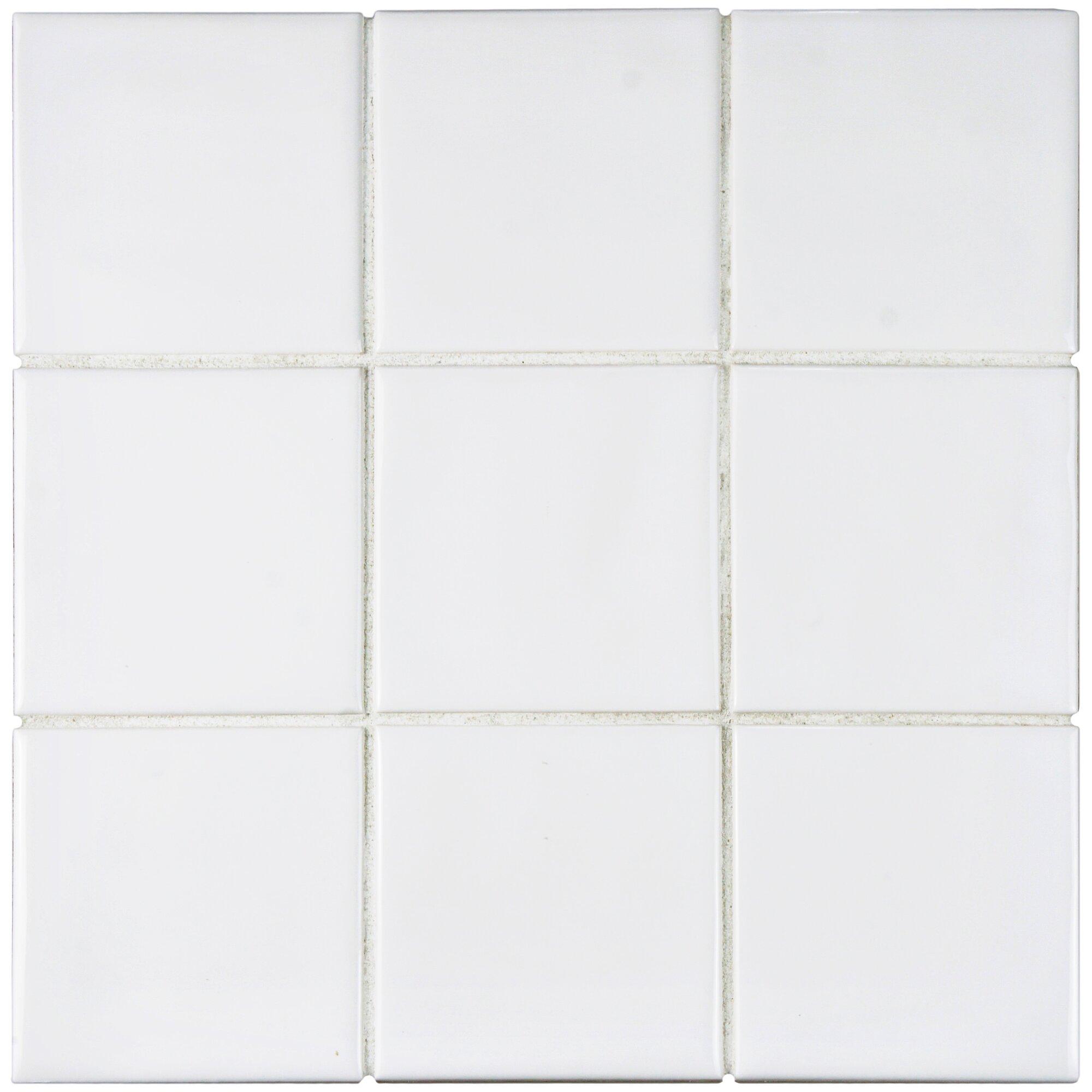 Elitetile Contour Square 3 75 Quot X 3 75 Quot Ceramic Field Tile