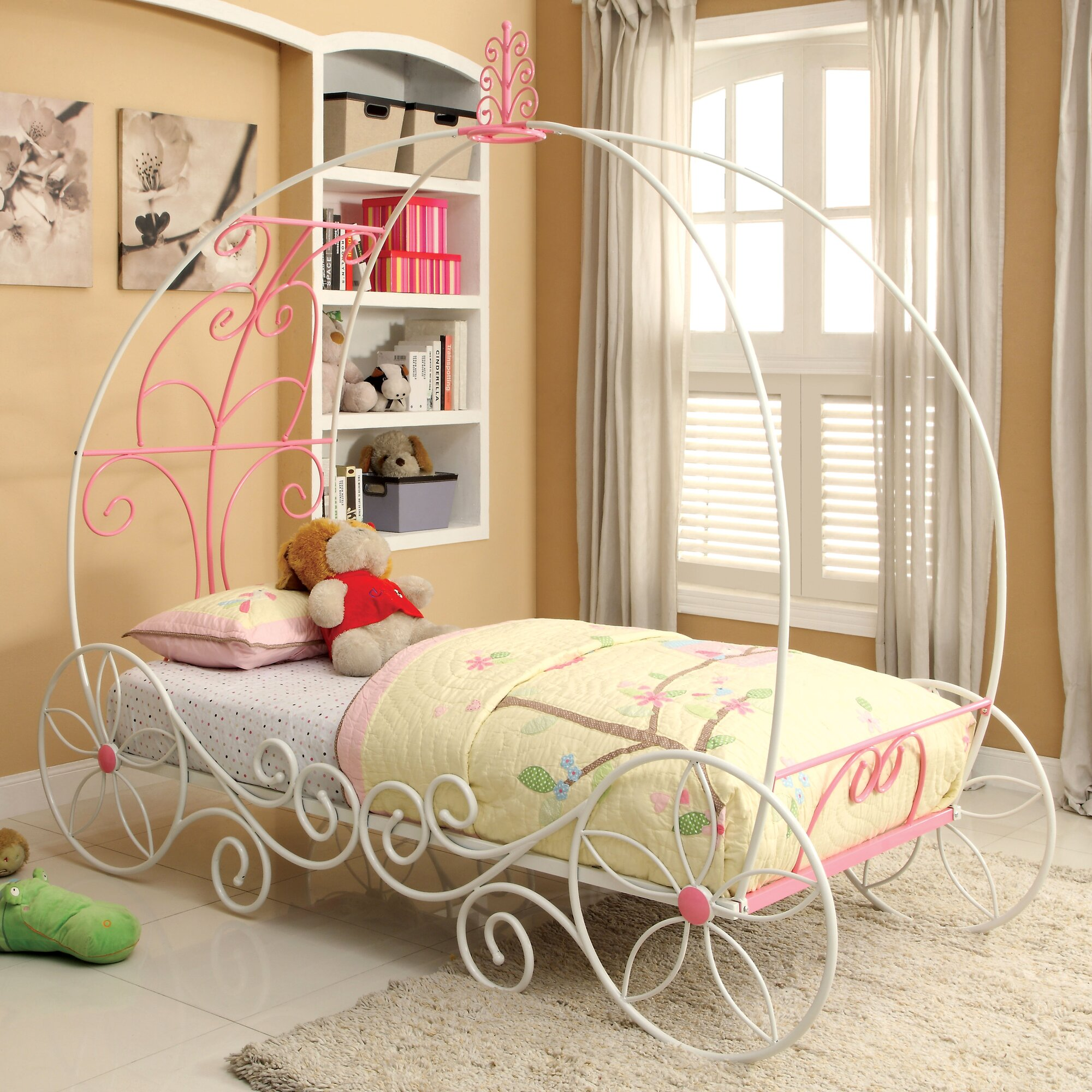 Hokku Designs Fairy Tale Twin Canopy Customizable Bedroom