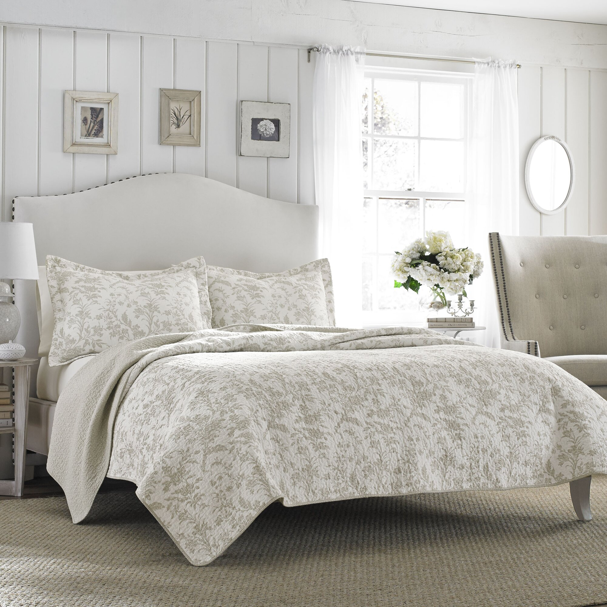 laura ashley home riley quilt set by laura ashley home reviews wayfair. Black Bedroom Furniture Sets. Home Design Ideas
