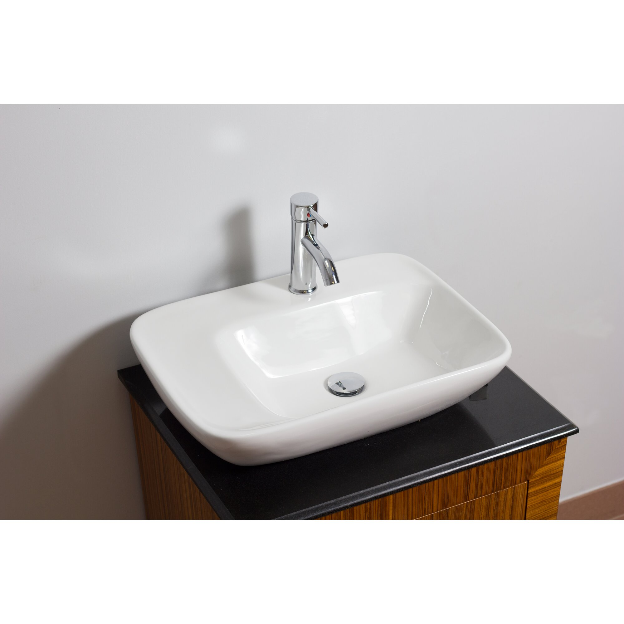 American imaginations above counter rectangular vessel bathroom sink with overflow reviews for Above counter bathroom sinks glass