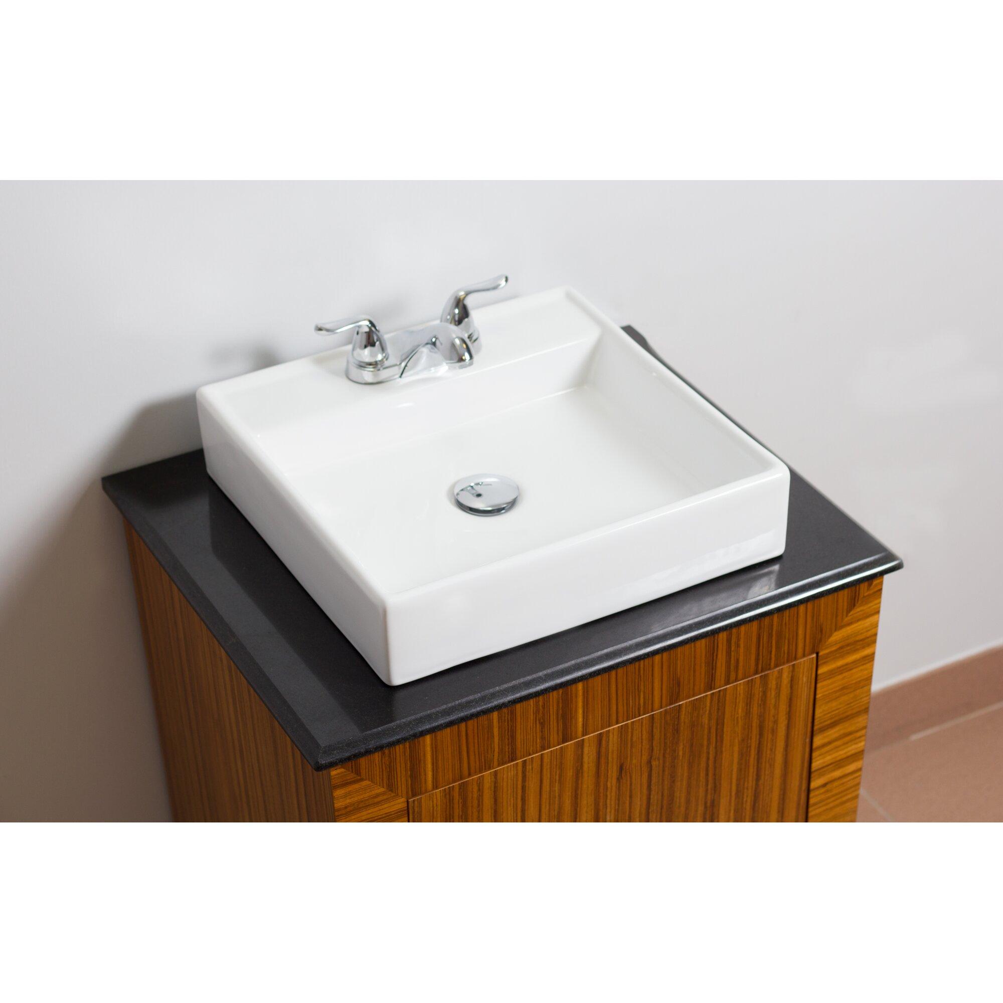 American Imaginations Above Counter Square Vessel Bathroom