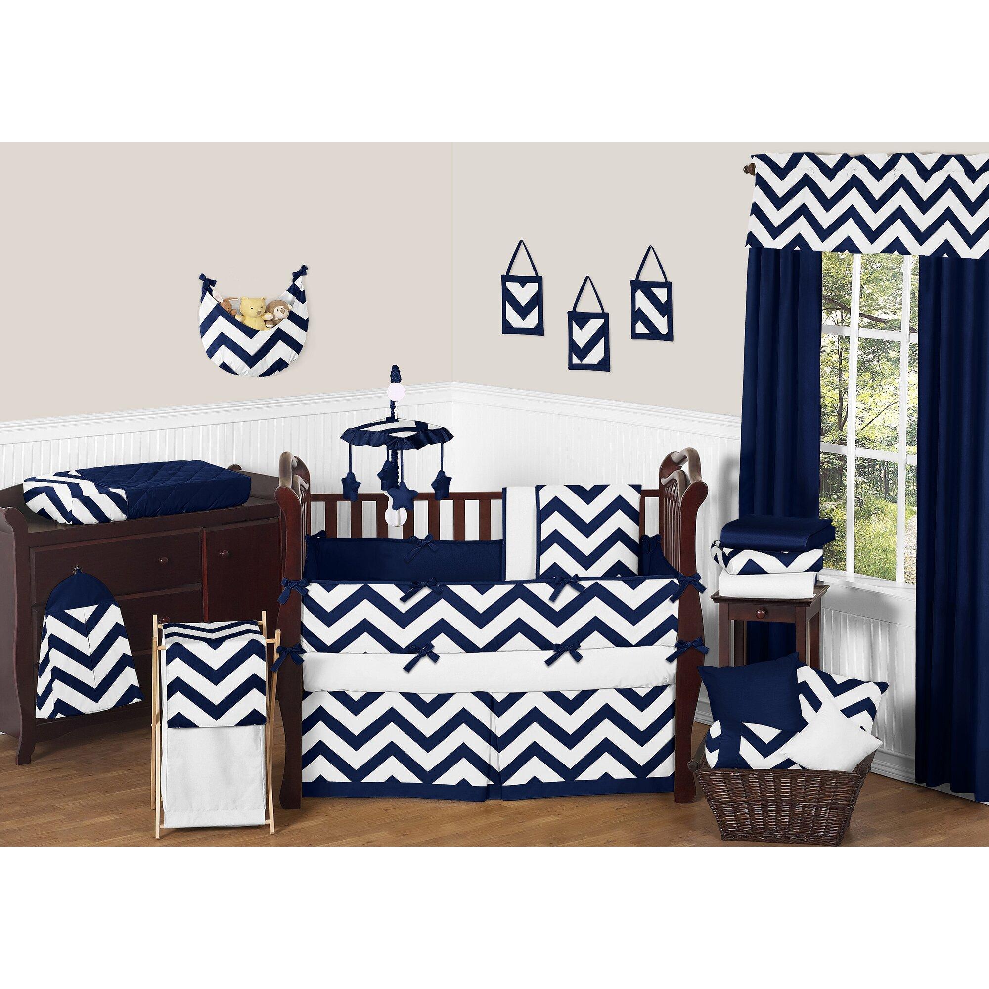 Sweet Jojo Designs Chevron  Piece Crib Bedding Set