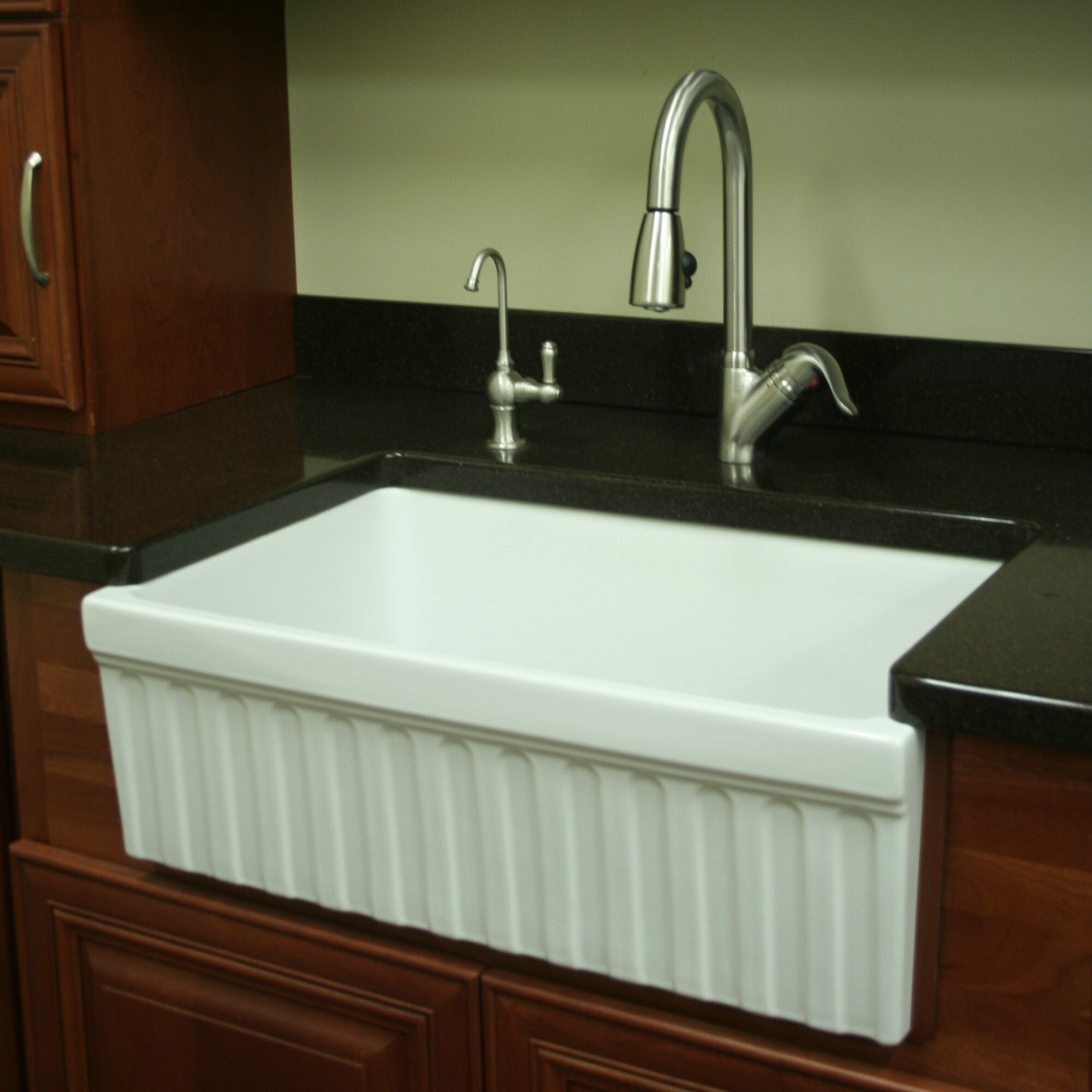"Whitehaus Collection FarmhausQuatro 30"" x 20"" x 10"" Single Bowl Farmhouse Kitchen Sink & Reviews"