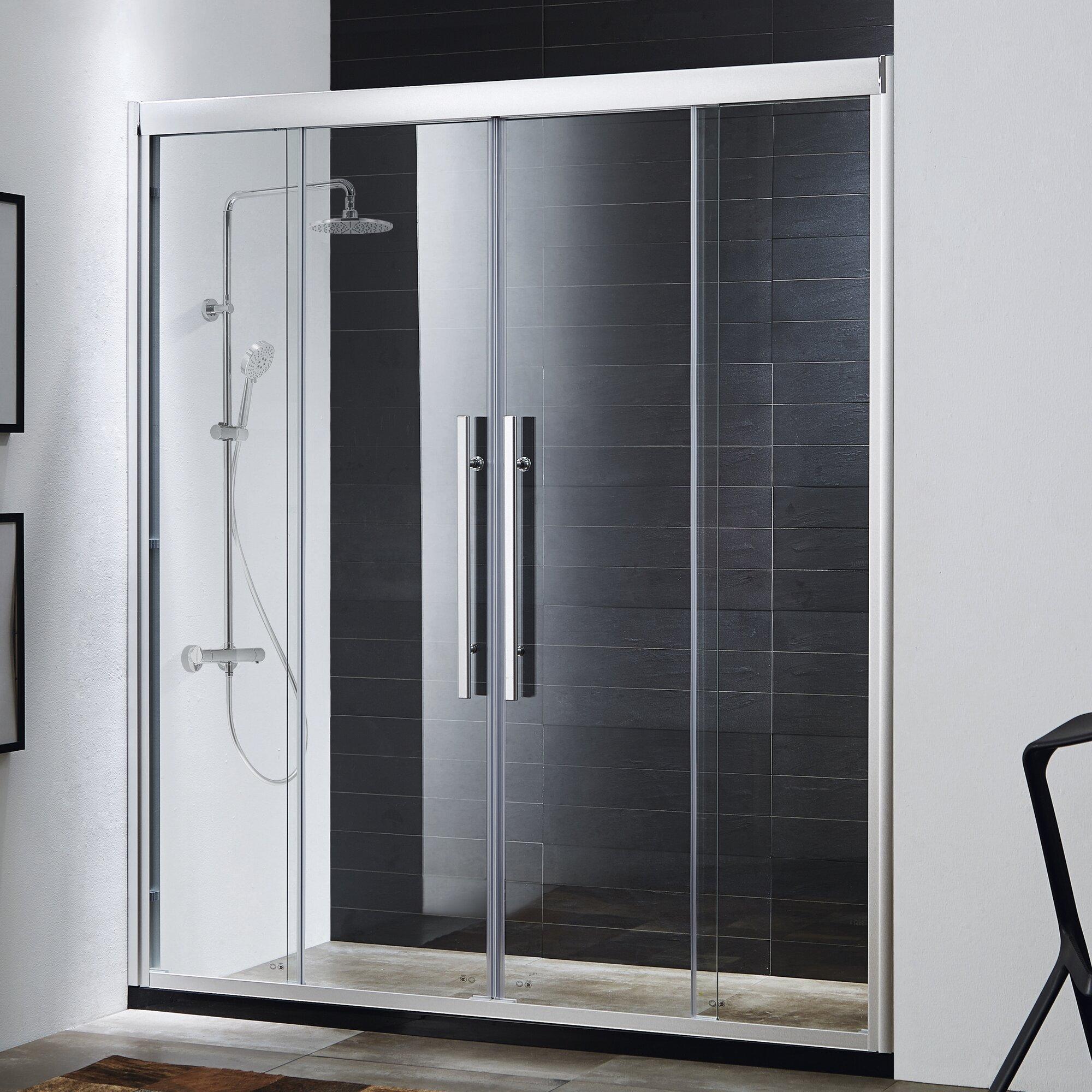basco shower doors reviews. basco rolaire 76 x 59 single sliding ...
