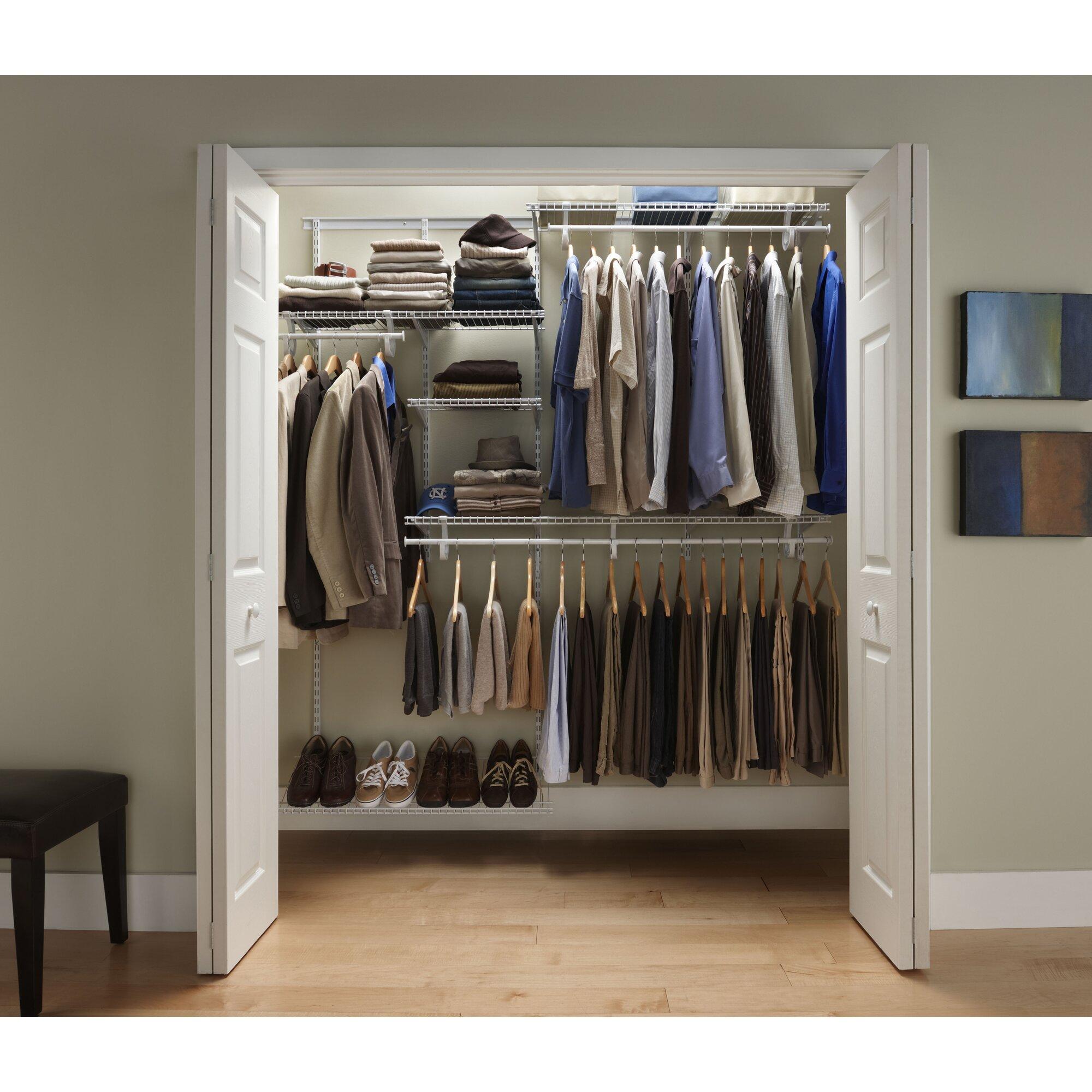 Free Bathroom Design Tool Closetmaid Shelftrack 60 Quot W 96 Quot W Closet System Amp Reviews