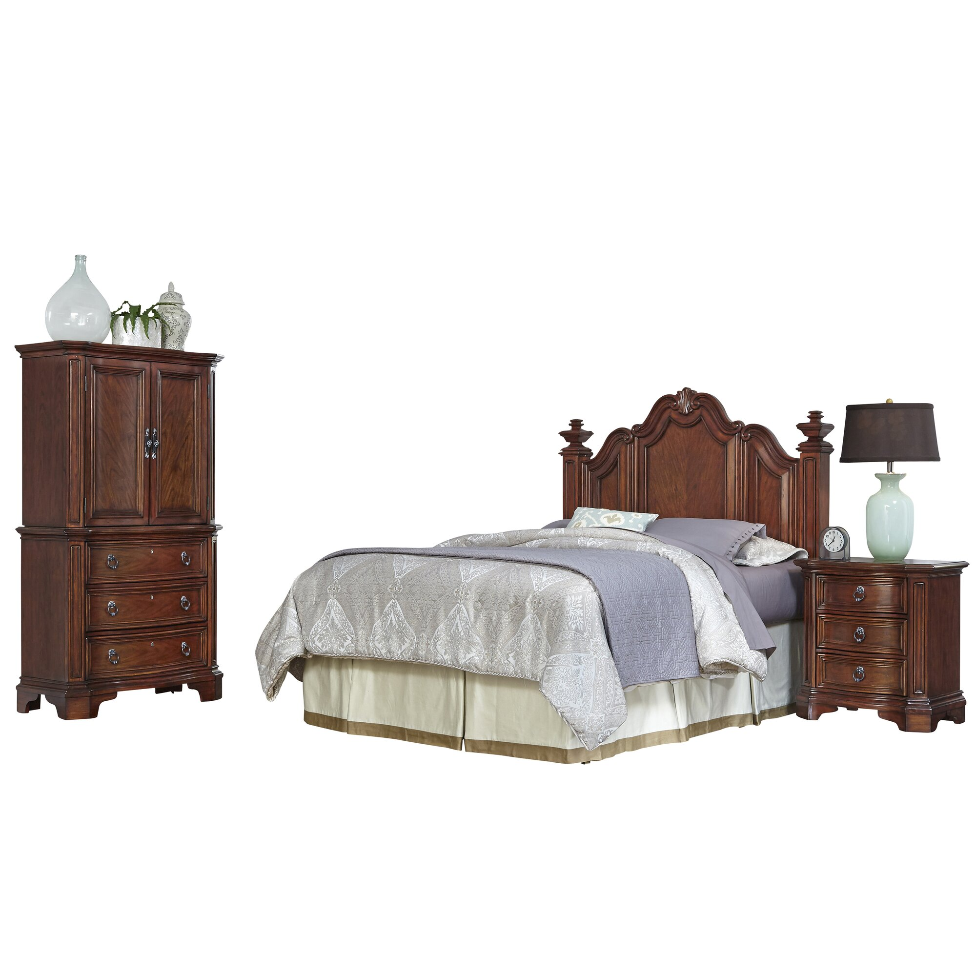 home styles santiago panel 4 piece bedroom set