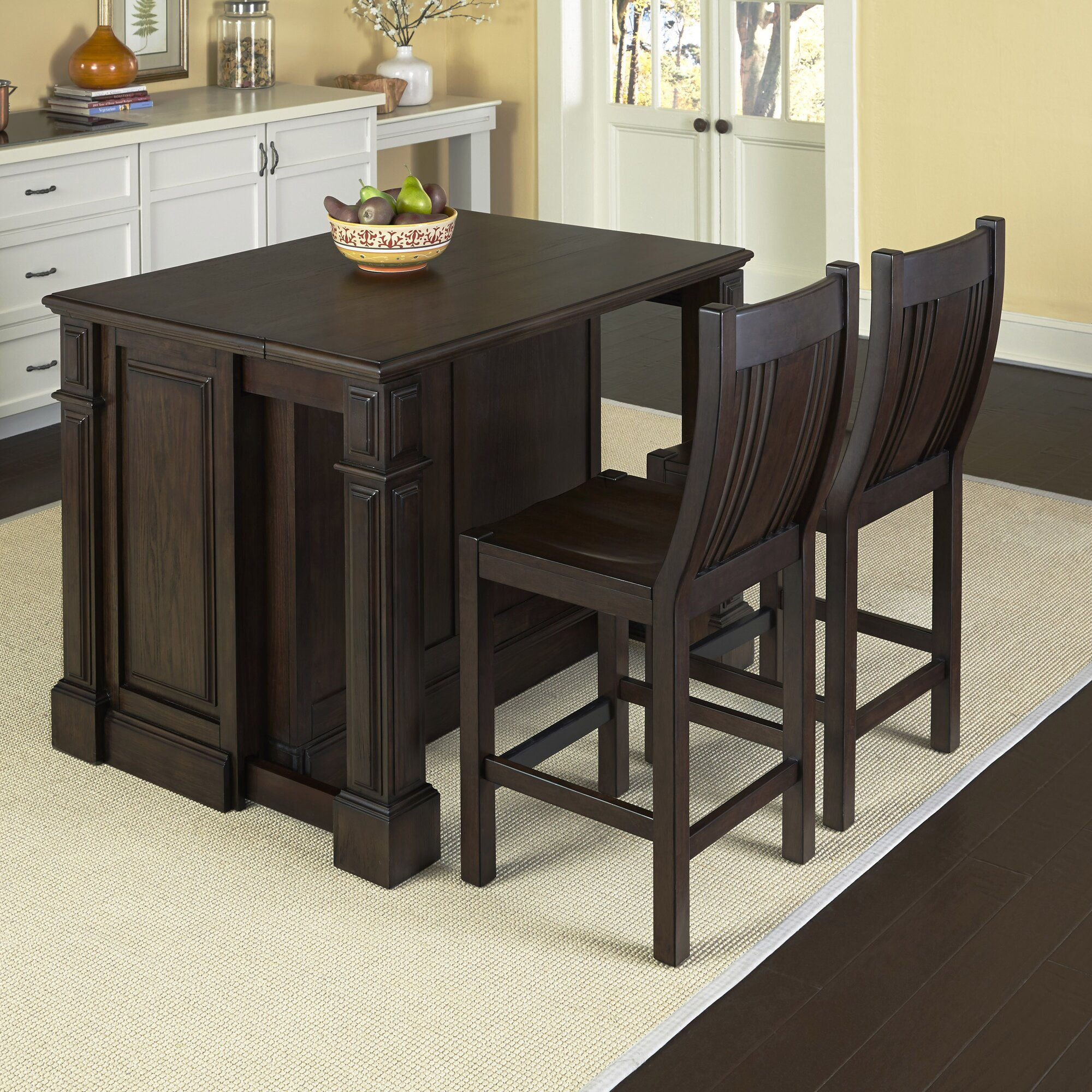 kitchen island set home styles prairie home 3 piece kitchen island set reviews wayfair 3917