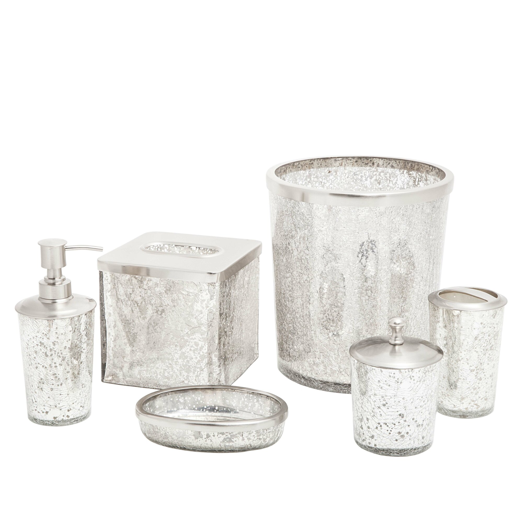 Chrome Bathroom Accessories Sets - Ice 6 piece bathroom accessory set