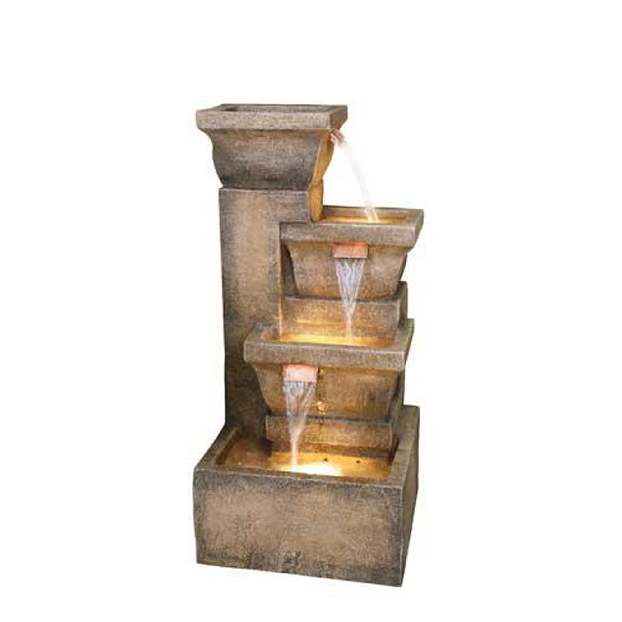 bond resin ashboro zen fountain with light reviews wayfair. Black Bedroom Furniture Sets. Home Design Ideas