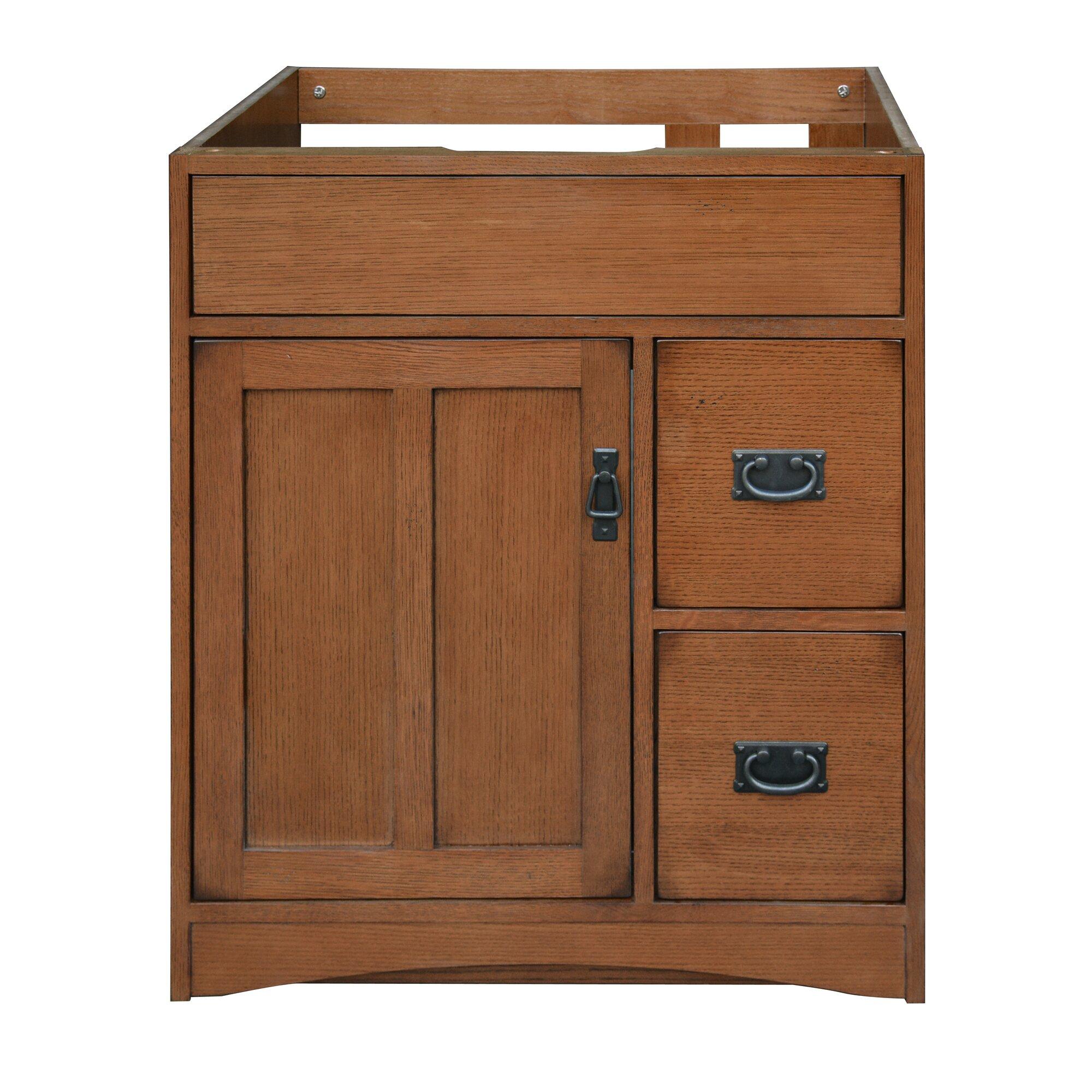 Sunny Wood Mission Oak 30 Bathroom Vanity Base Wayfair