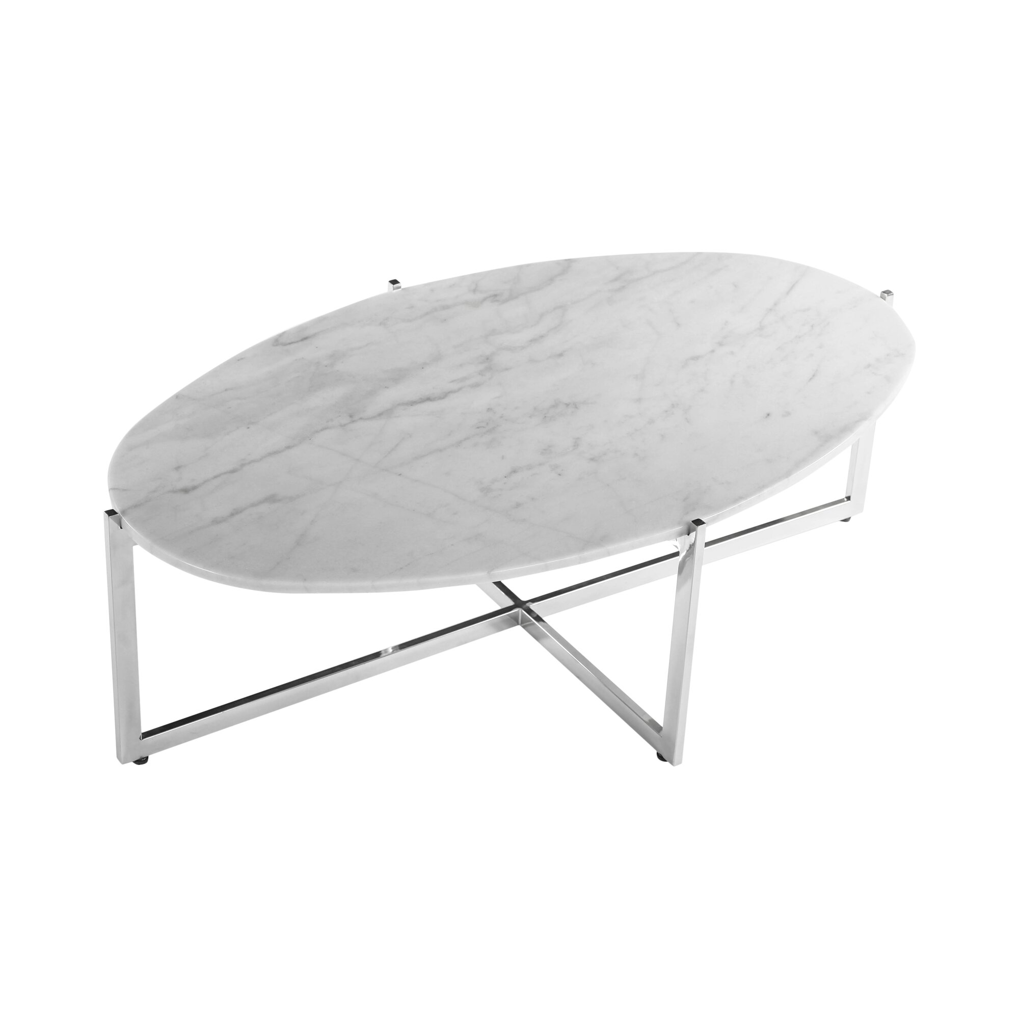Parker Oval Marble Coffee Table Reviews: Oval Coffee Table & Reviews