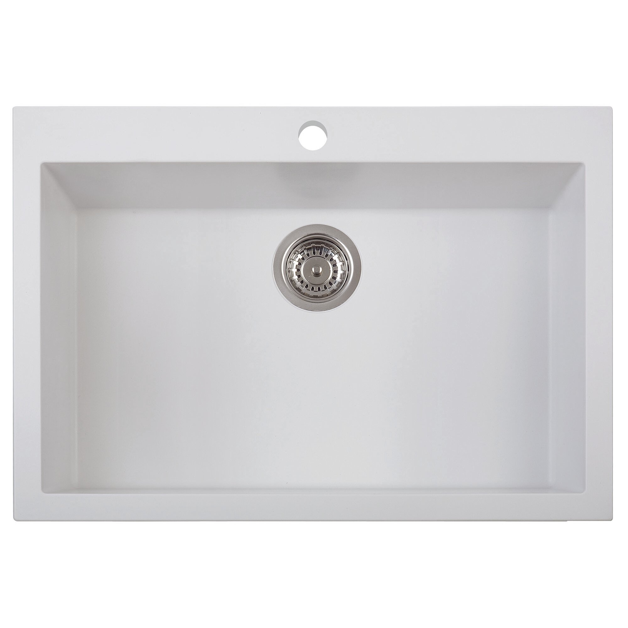 30 x 20 drop in single bowl kitchen sink - White Single Basin Kitchen Sink