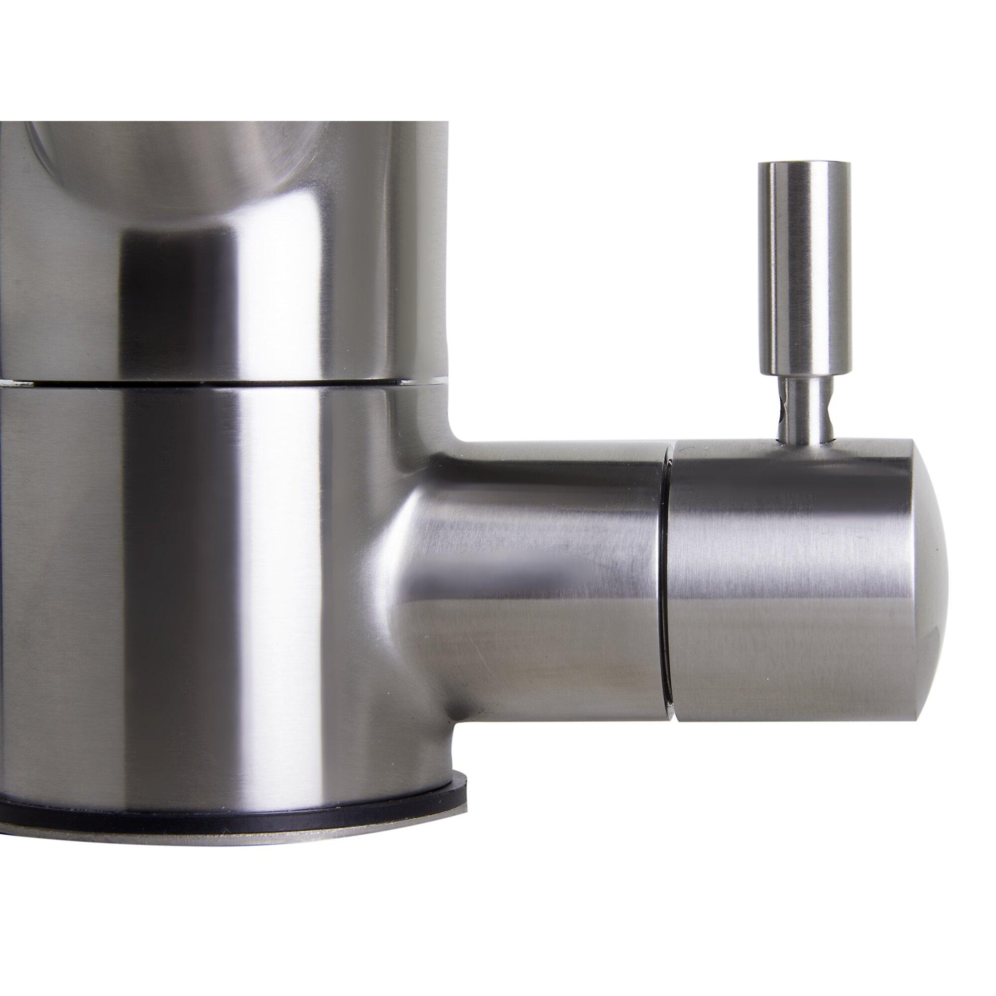 Alfi Brand Single Handle Single Hole Kitchen Faucet with Built & Reviews   Wayfair