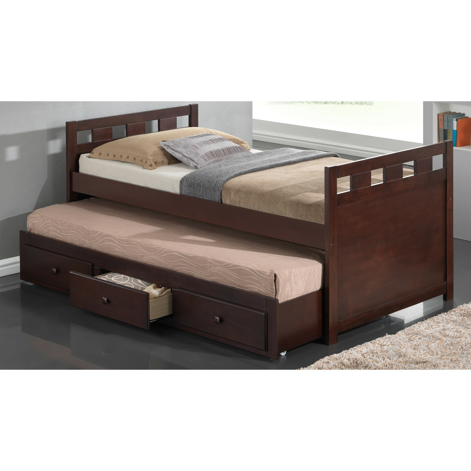 twin captain bed with trundle and storage - Twin Captains Bed