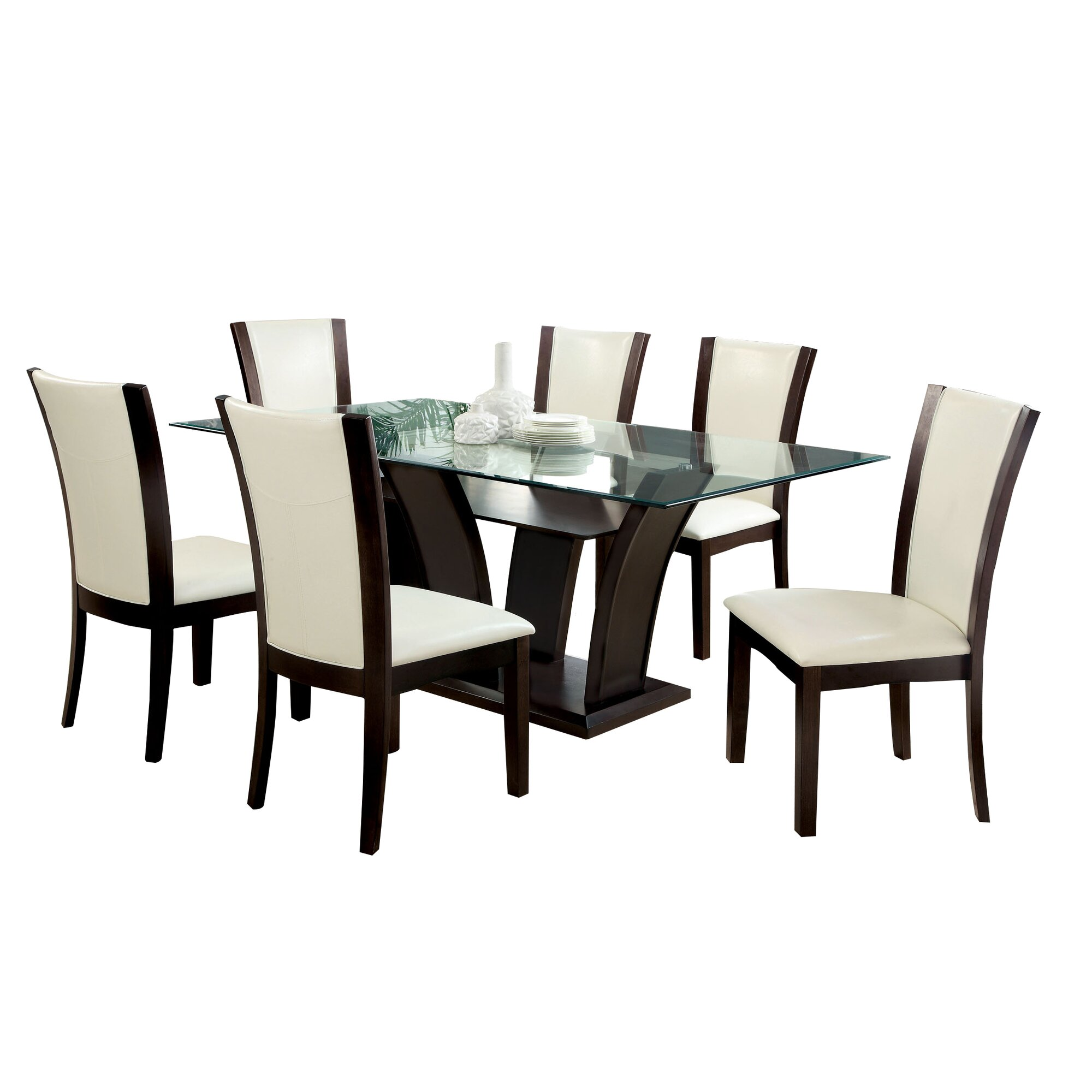 Hokku designs carmilla 7 piece dining set reviews wayfair for Hokku designs dining room furniture