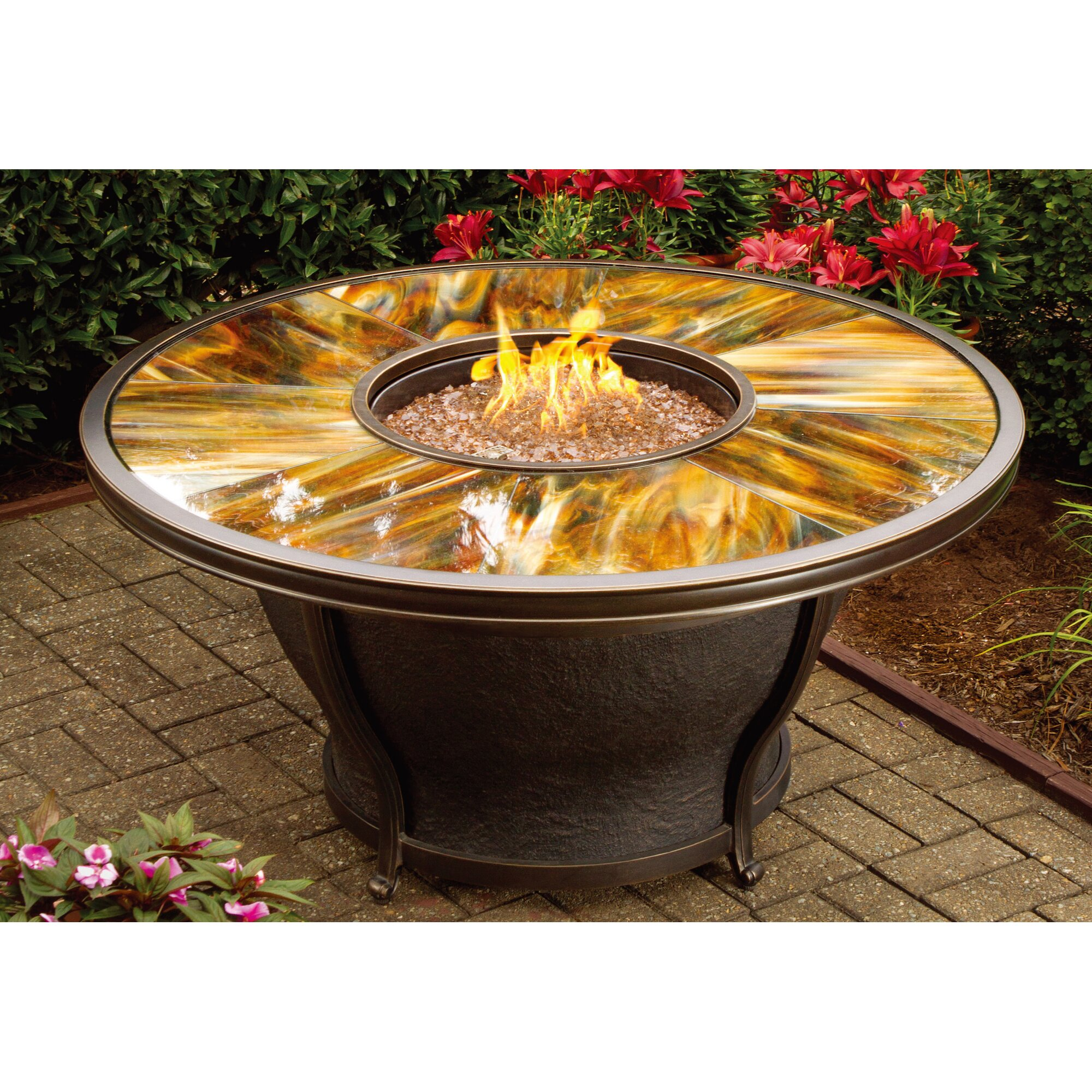 Oakland Living Moonlight Gas Fire Pit Table Amp Reviews