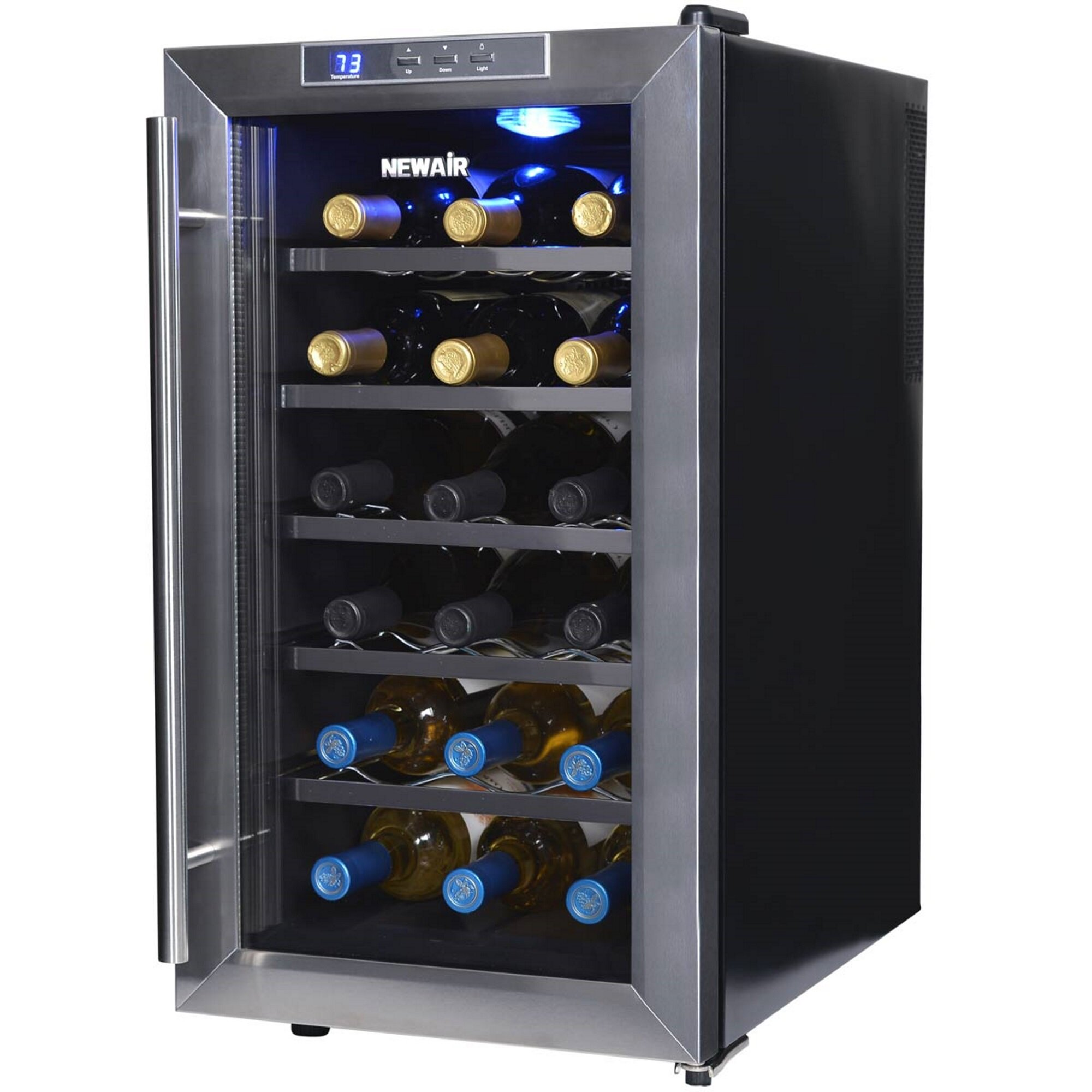 Newair 18 Bottle Single Zone Freestanding Wine Cooler