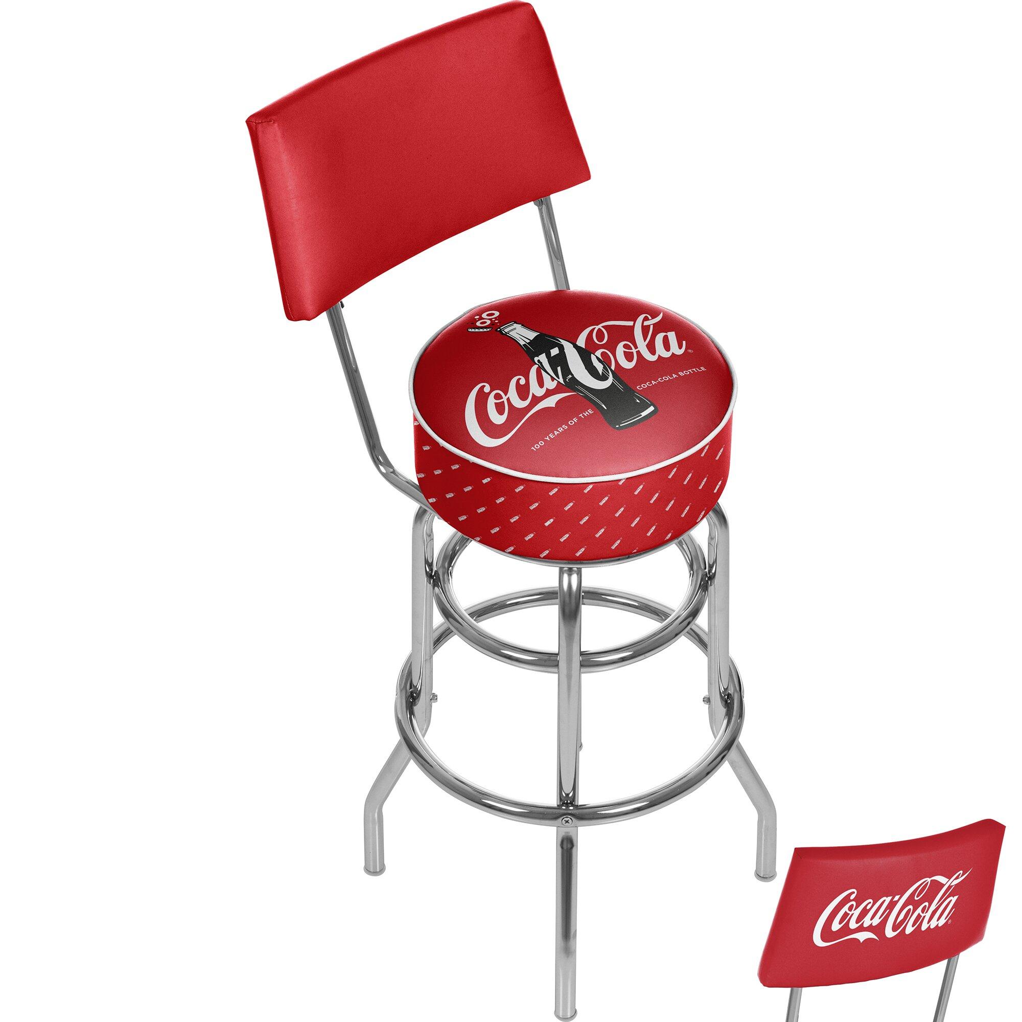 Coca Cola Swivel Bar Stool