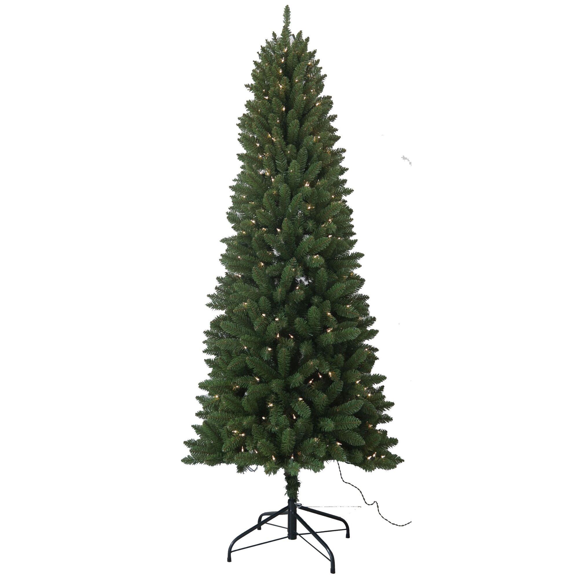 Next Slim Christmas Tree: Santa's Workshop 6.5' Slim Artificial Christmas Tree With