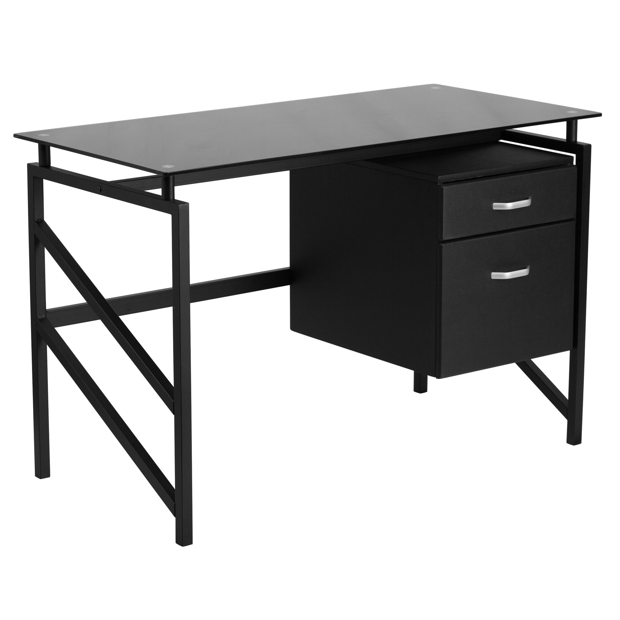 Flash Furniture 2 Drawer Pedestal Computer Desk Amp Reviews