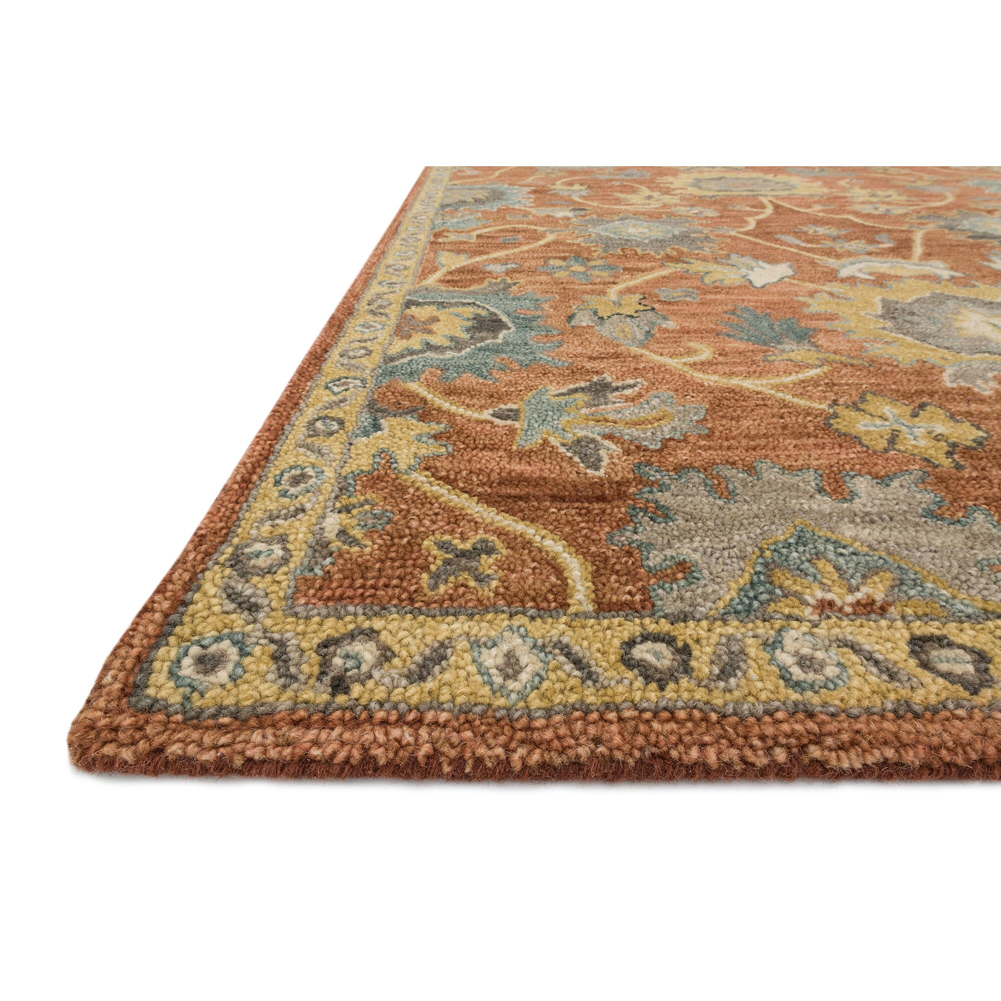 Loloi Rugs Underwood Rust/Gold Area Rug & Reviews