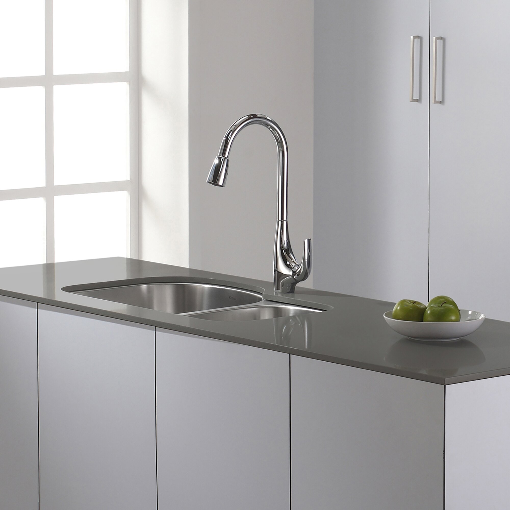 Kraus High Arch Single Handle Pull Down Kitchen Faucet ...