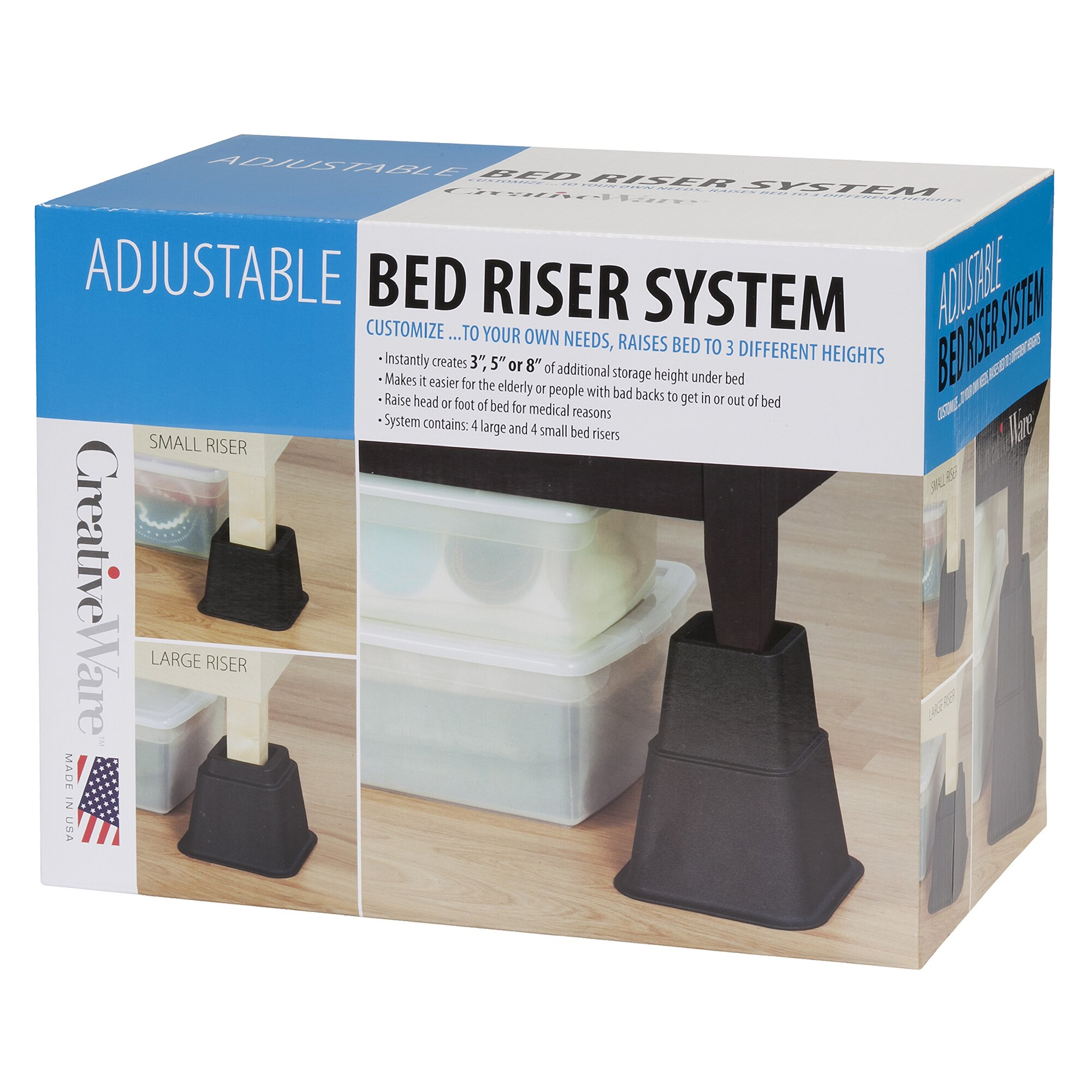 Extra tall bed risers - Home 8 Piece Bed Riser Set