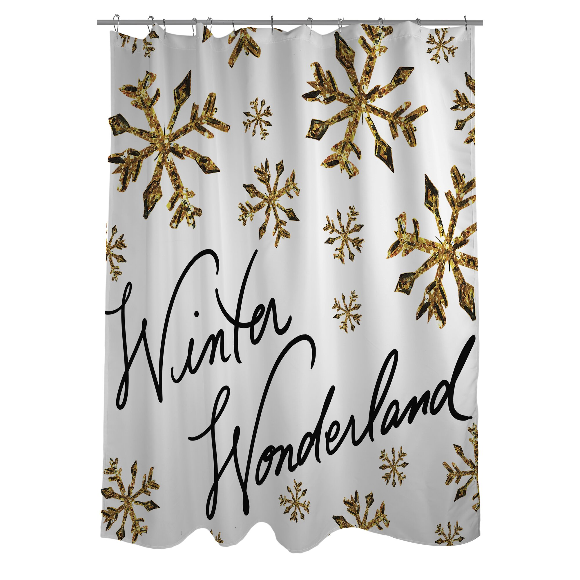 California King Size Bedroom Sets One Bella Casa Winter Wonderland Snowflakes Shower Curtain