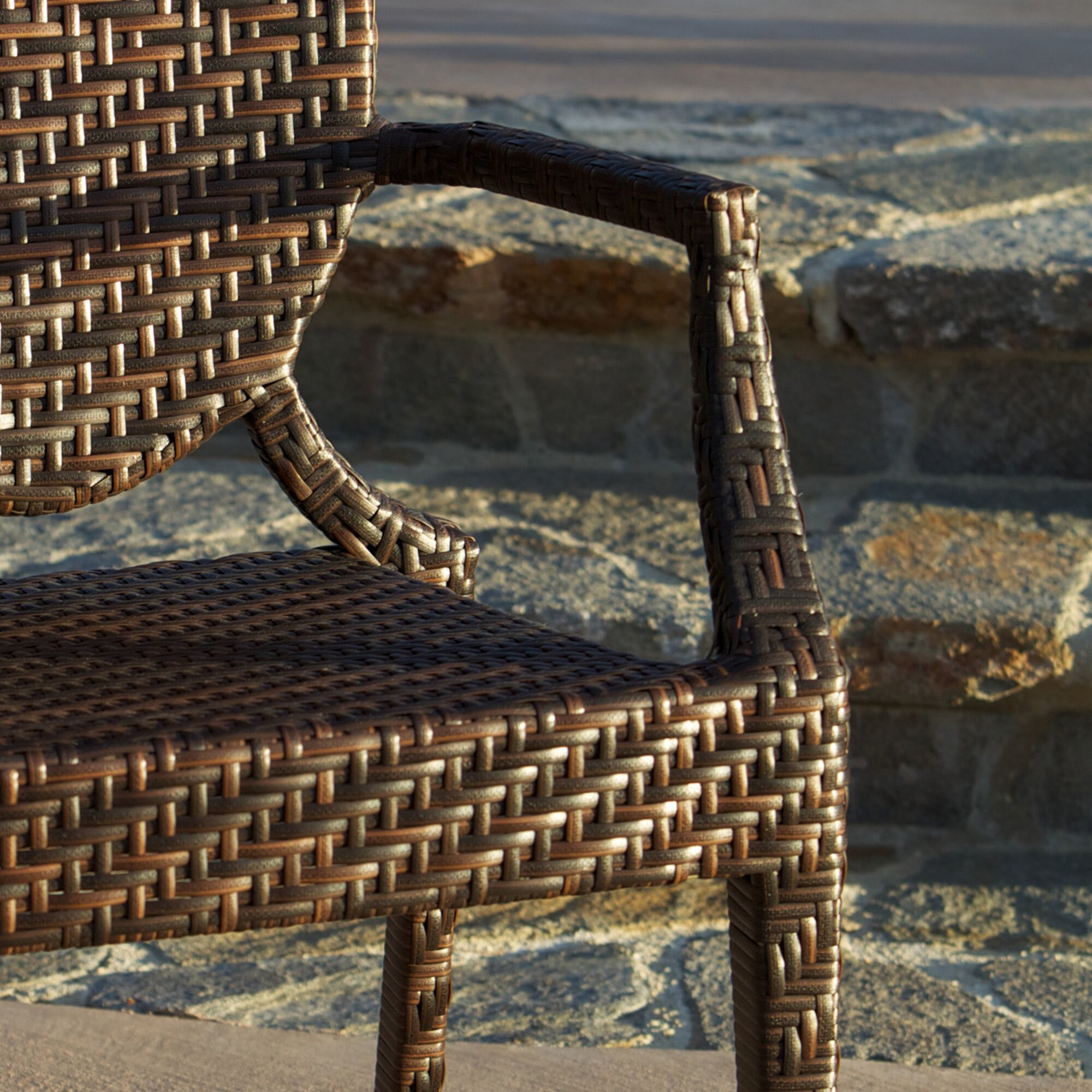 Woven outdoor chair how to repair your resin wicker outdoor home loft concepts giesel pe wicker outdoor chair reviews wayfair solutioingenieria Choice Image