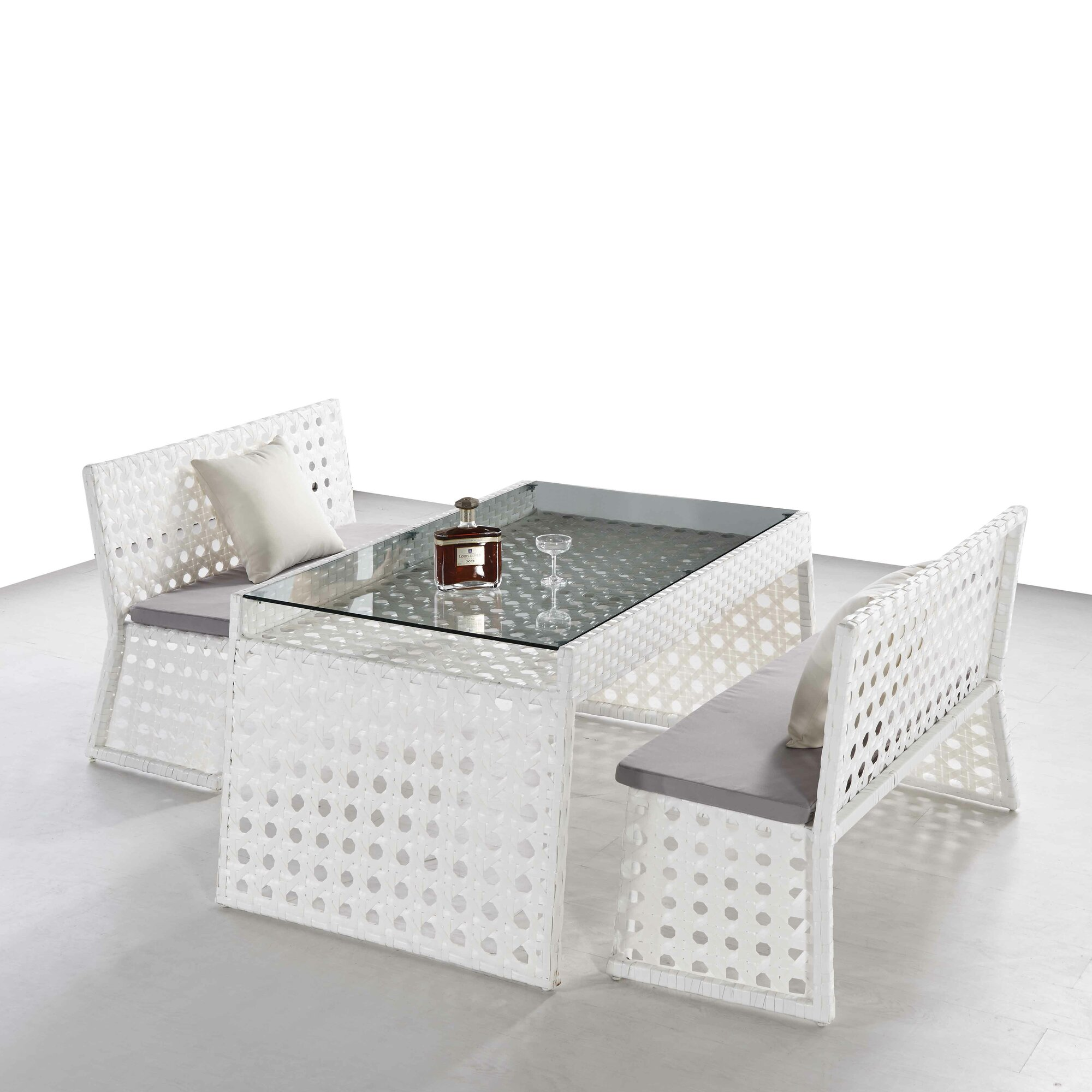 Ceets Orchard 3 Piece Dining Set with Cushions & Reviews