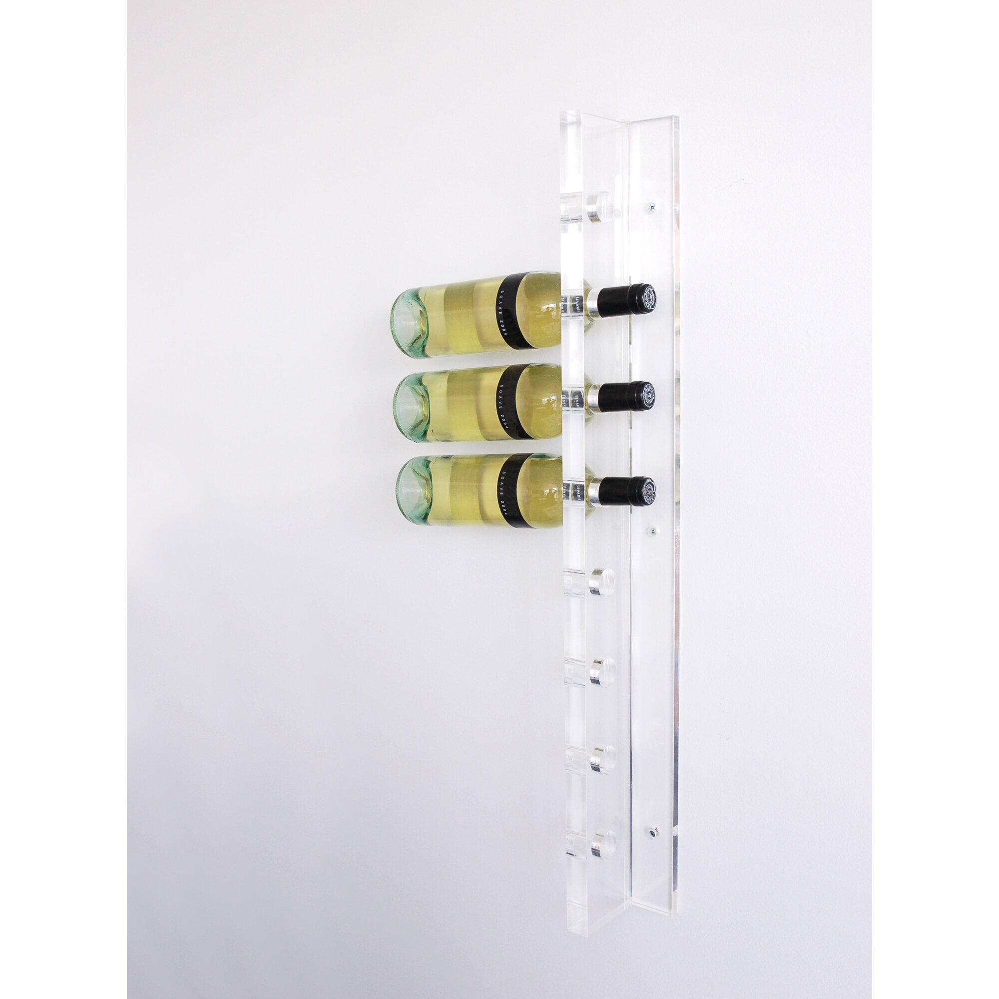 Acrylic 8 bottle wall mounted wine rack reviews allmodern for All modern accessories
