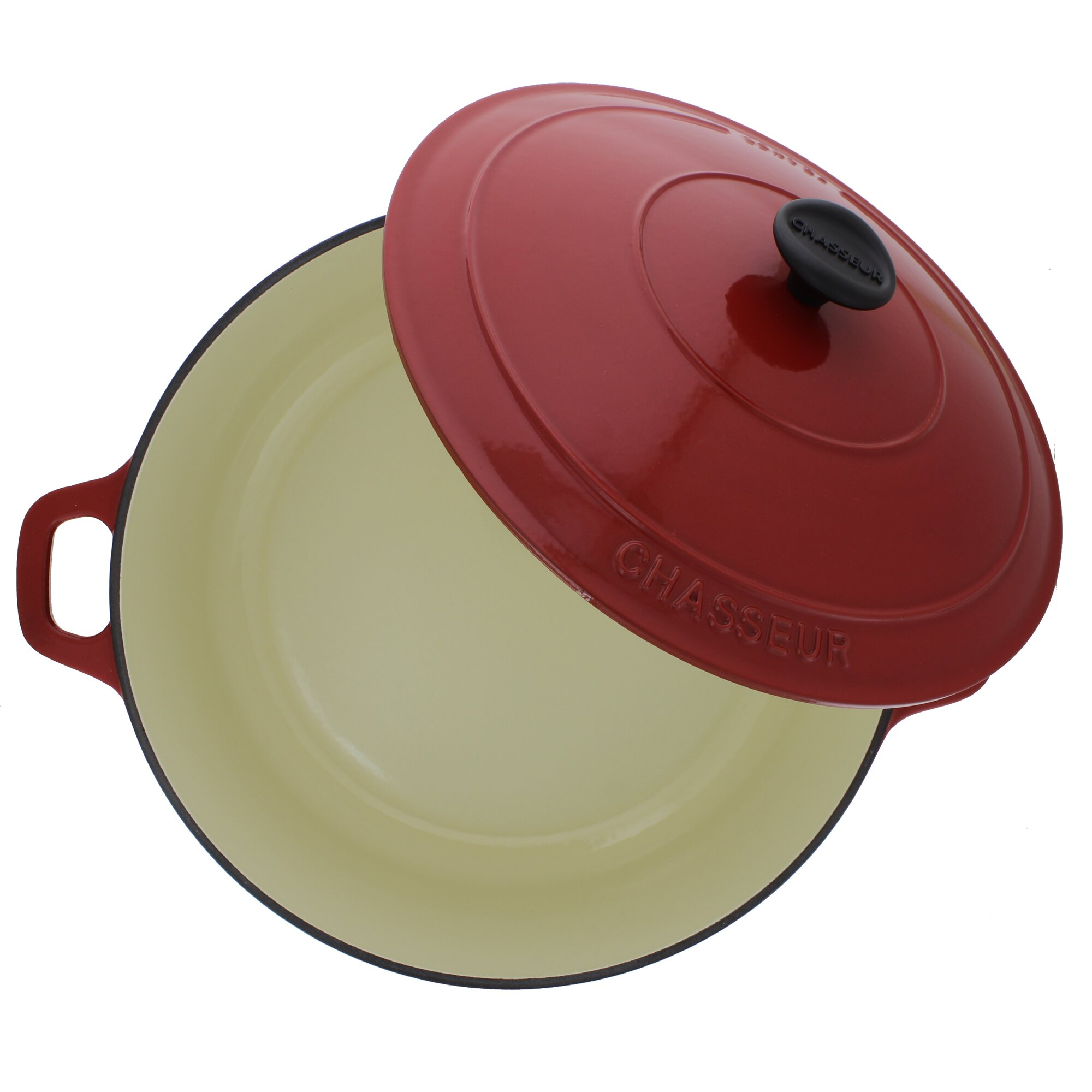 Chasseur Chasseur 7.1-quart Red French Enameled Cast Iron Round ...