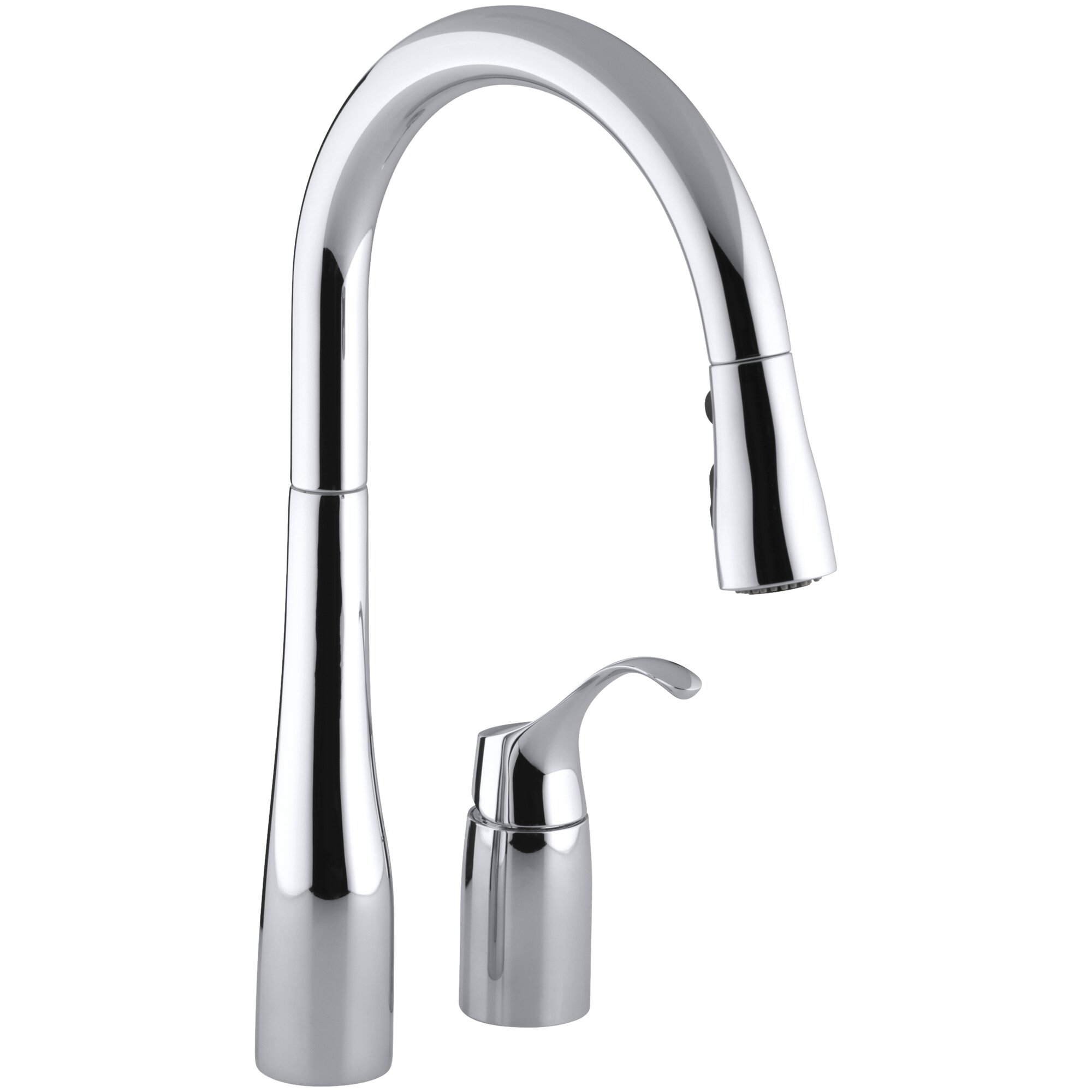 Pull Down Kitchen Faucets Reviews Kohler Simplice Two Hole Kitchen Sink Faucet With 16 1 8