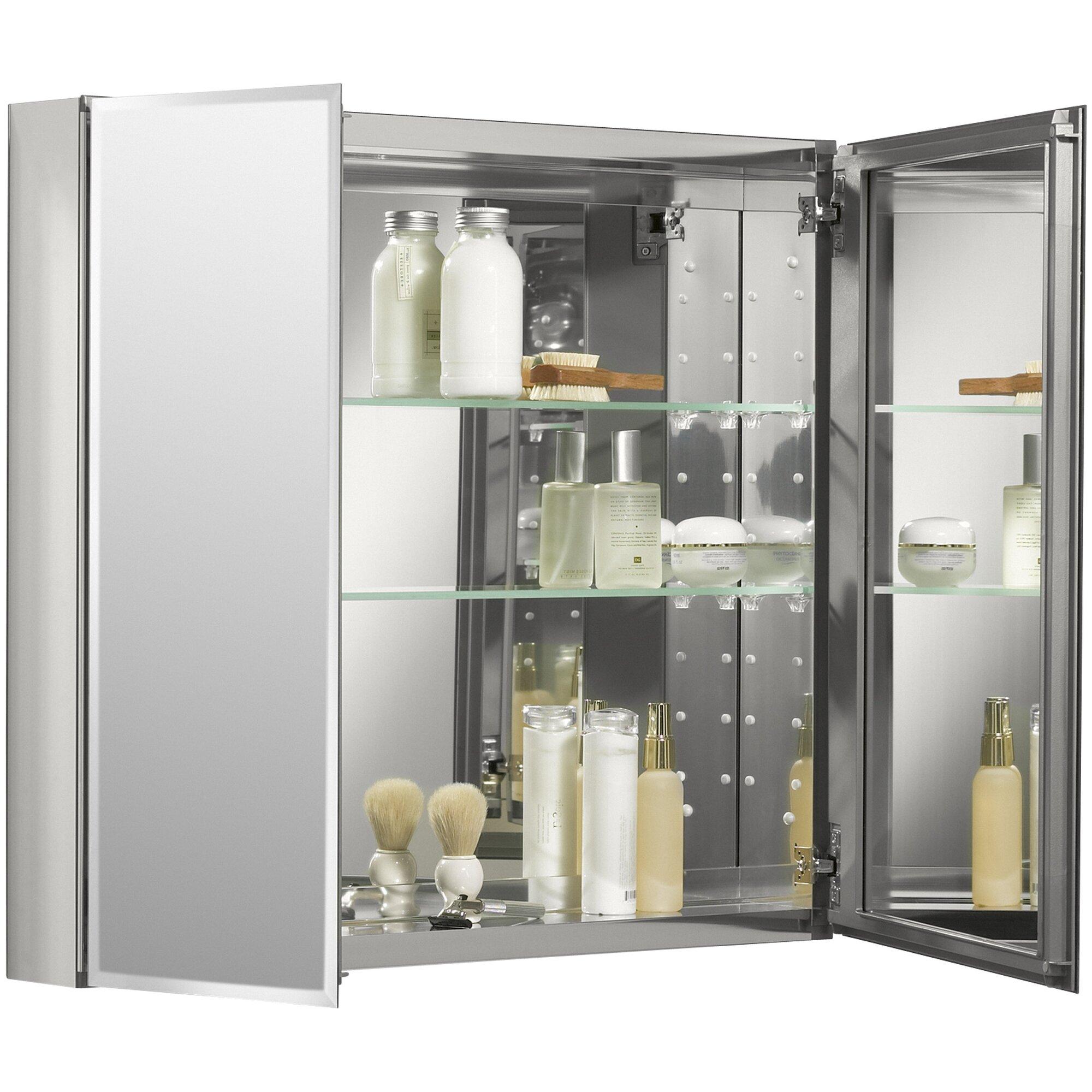 Kohler 30 Quot W X 26 Quot H Aluminum Two Door Medicine Cabinet