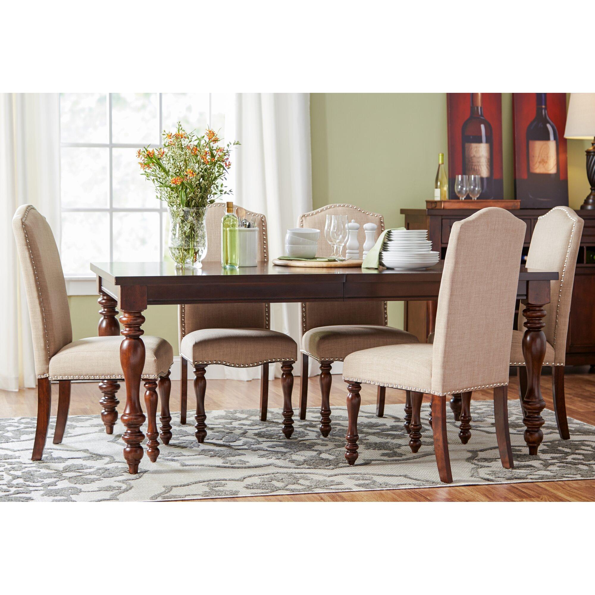 Three Posts™ Lanesboro 7 Piece Dining Set & Reviews | Wayfair