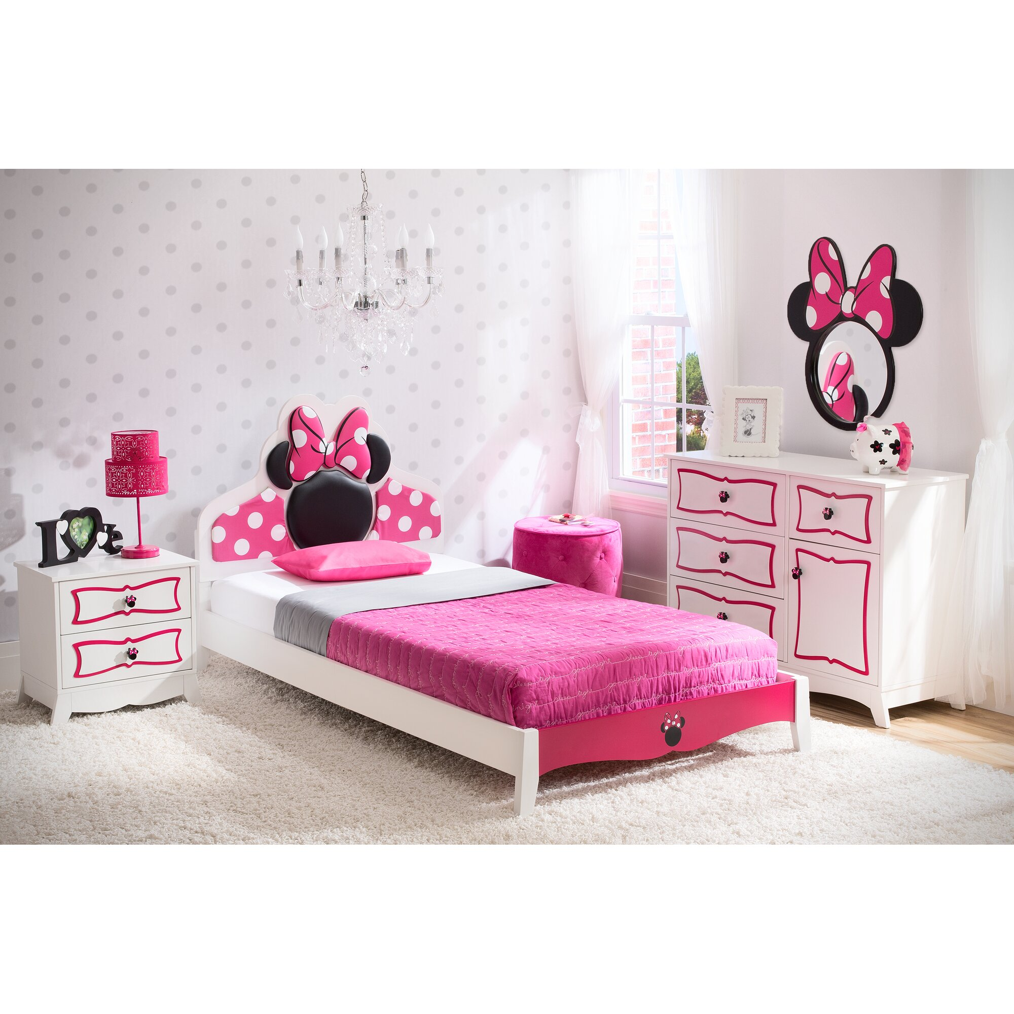 disney minnie mouse panel 4 piece bedroom set reviews wayfair