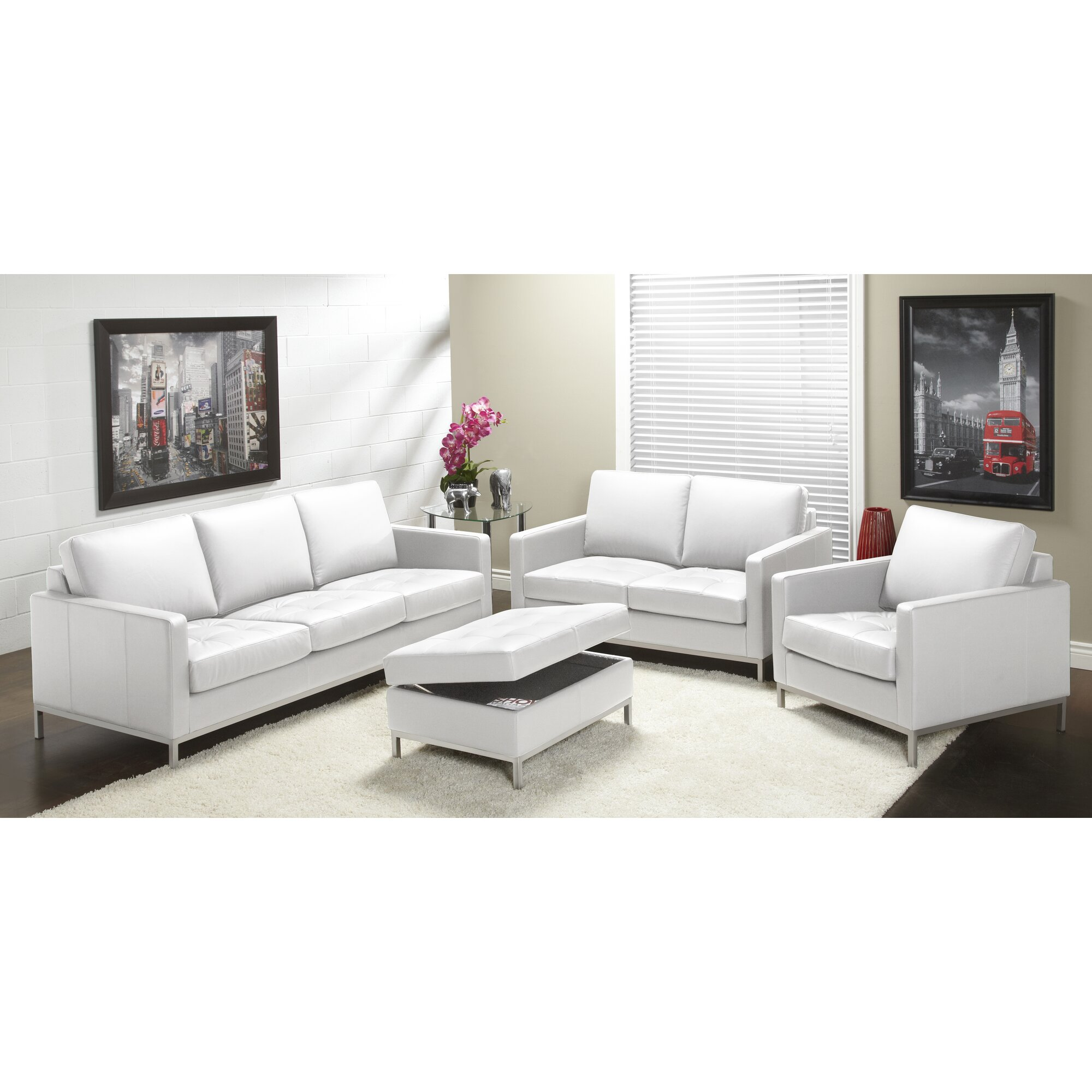 Lind Furniture 244 Series Top Grain Leather Living Room Collection Reviews Wayfair