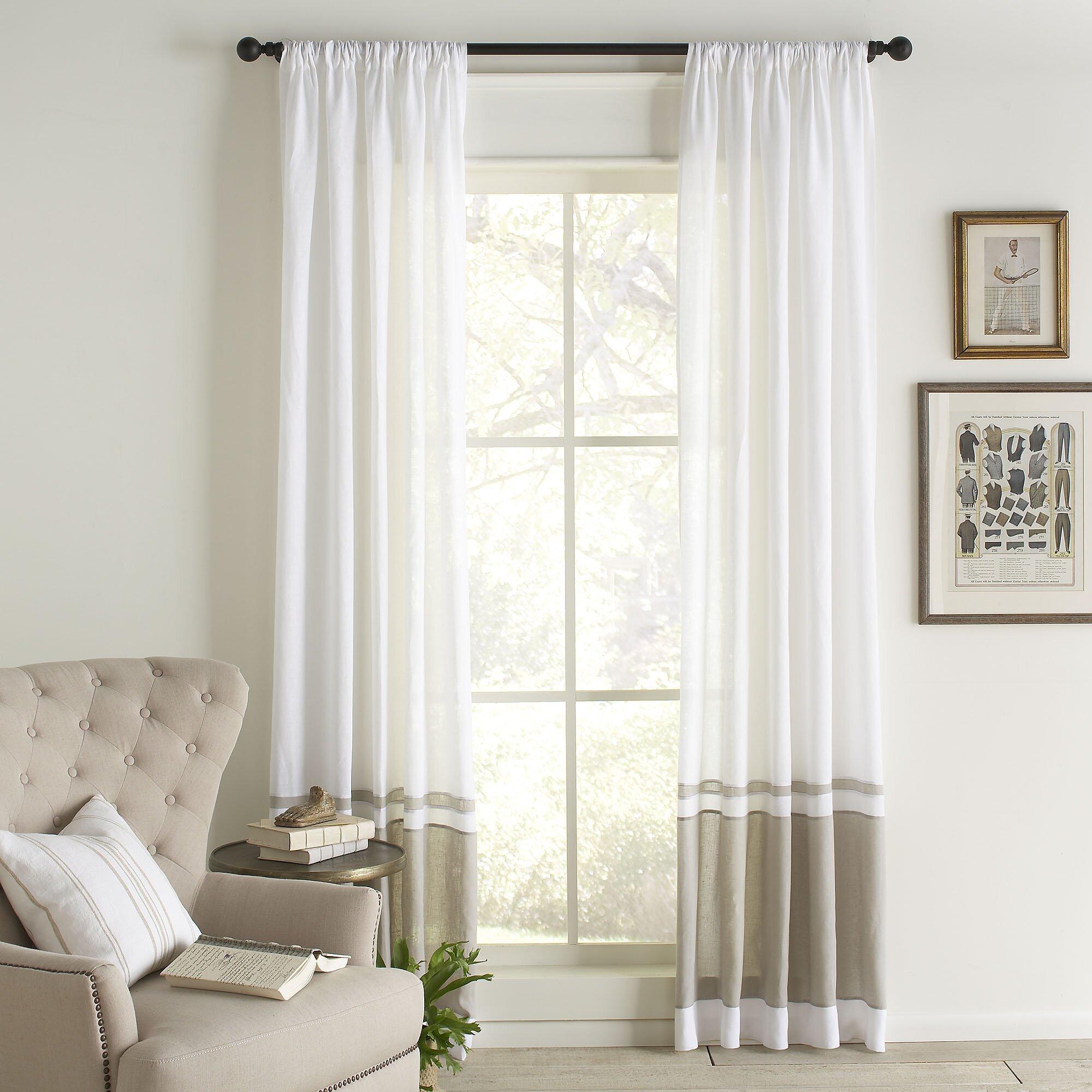 linen curtain panels. stonewashed linen curtain 7 colours linen