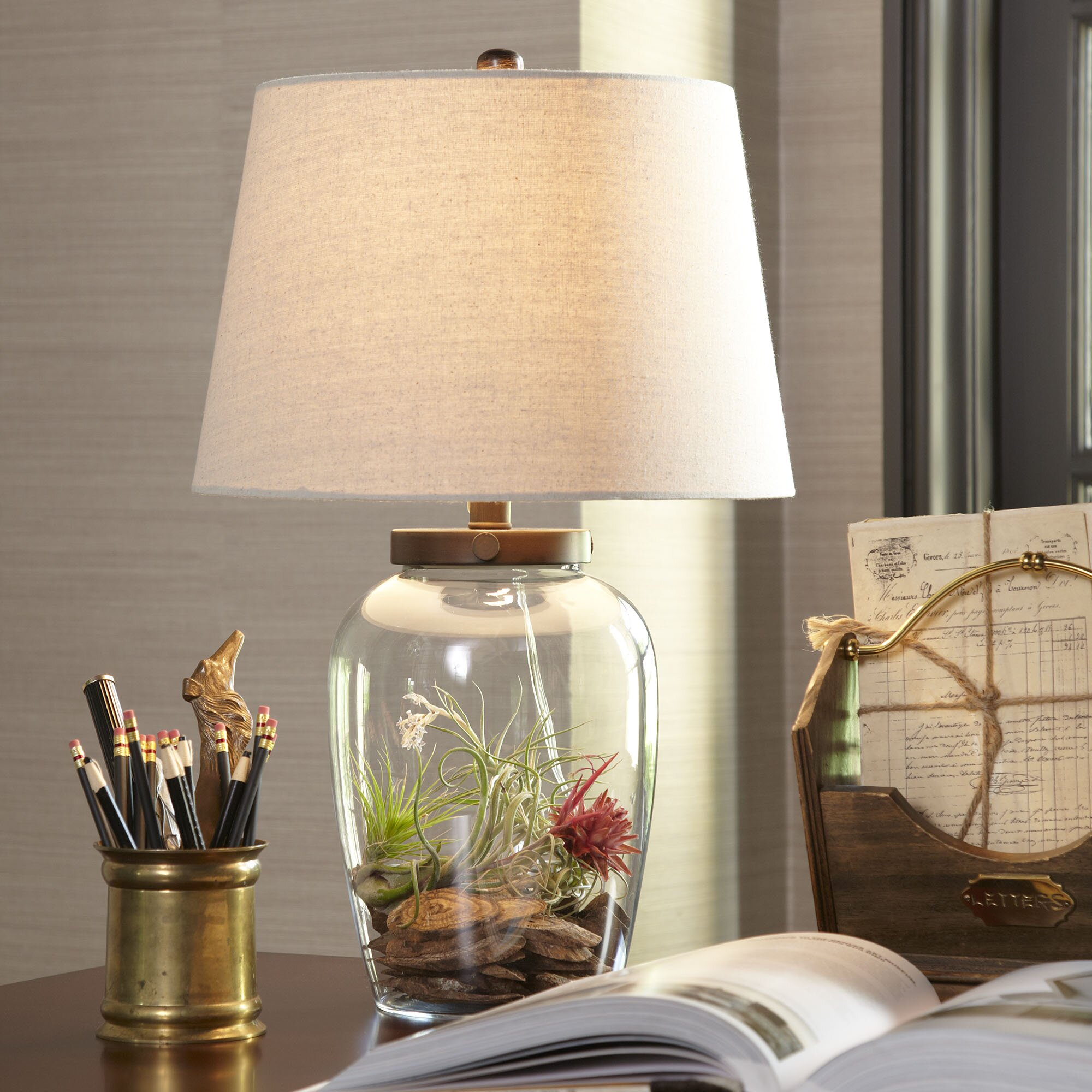 Wallington Glass Table Lamp Amp Reviews Birch Lane