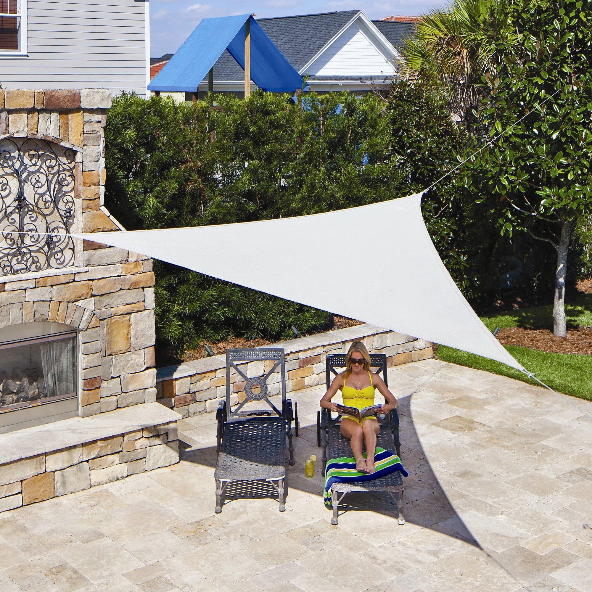 Coolaroo 12 Triangle Shade Sail Amp Reviews Wayfair