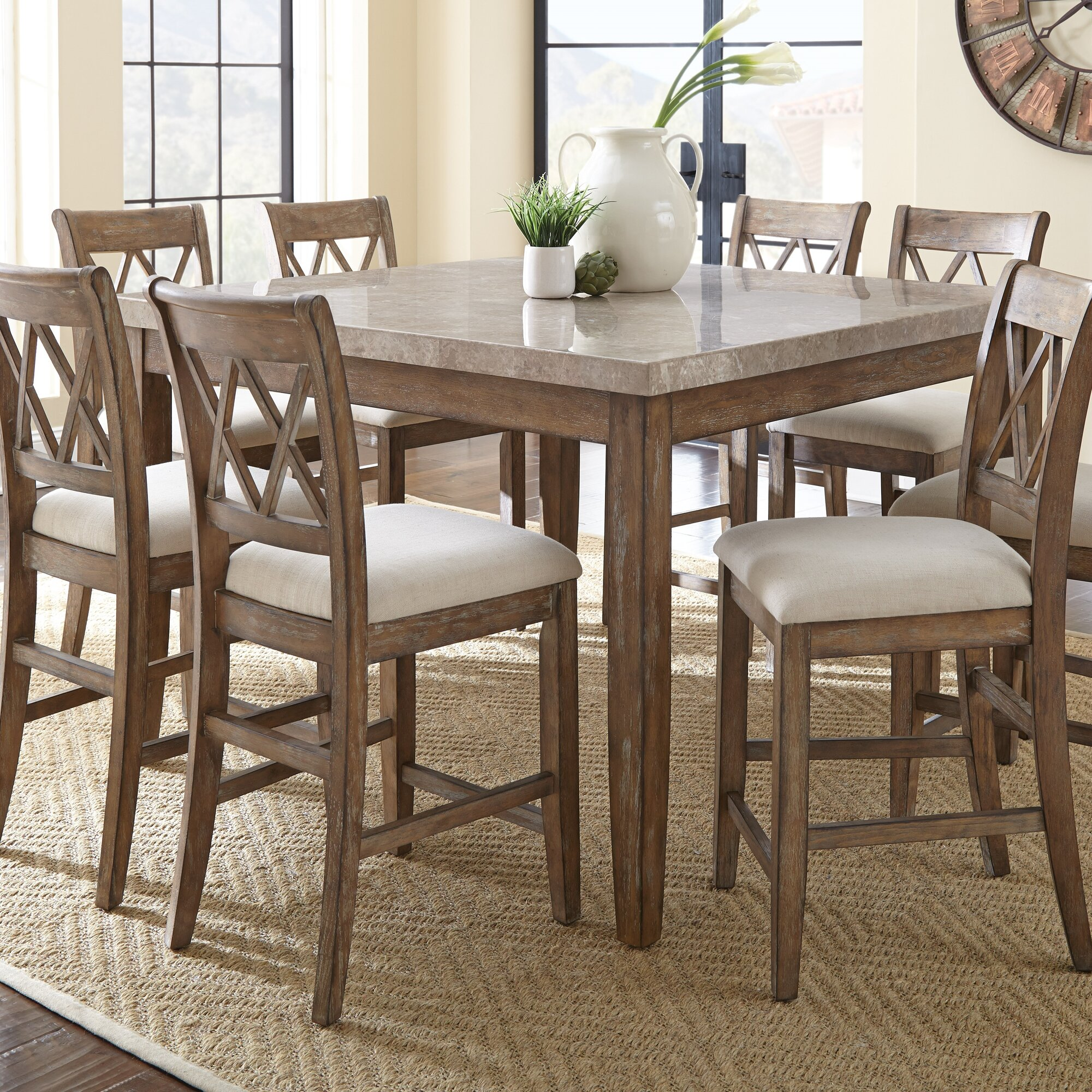 Counter Height Dining Tables Counter Height Cross Back Kitchen Dining Room  Sets You Ll Love.