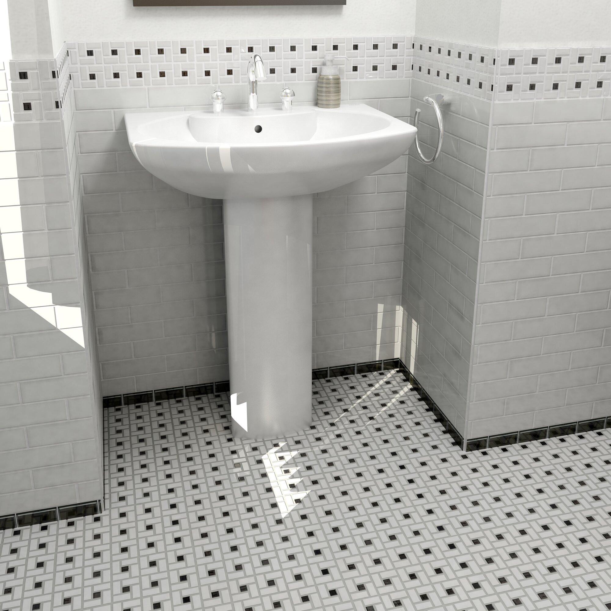 Elitetile Retro 12 5 Quot X 12 5 Quot Porcelain Mosaic Tile In