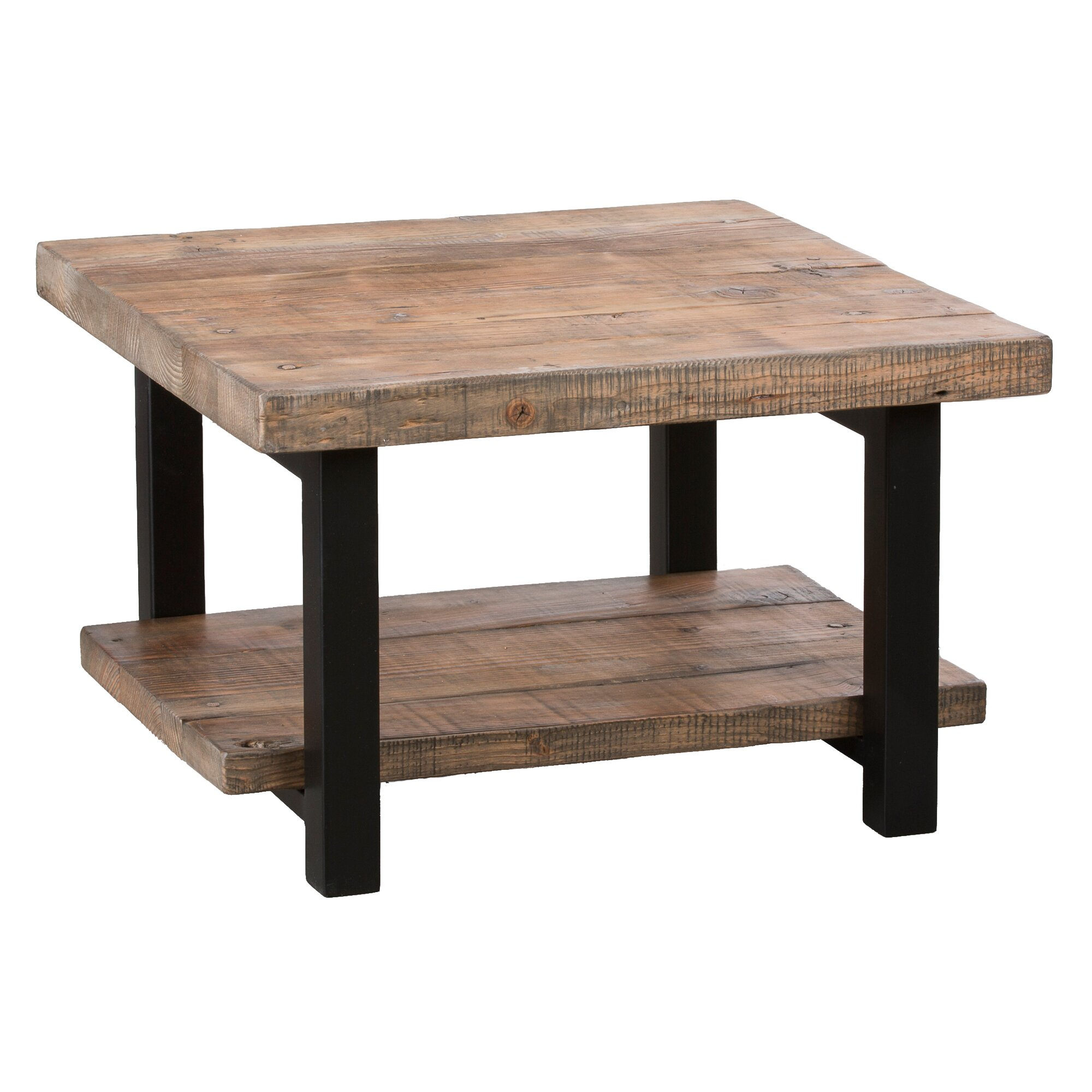 "Jerome S Square Coffee Table: Loon Peak Somers 27"" Reclaimed Wood Square Coffee Table"