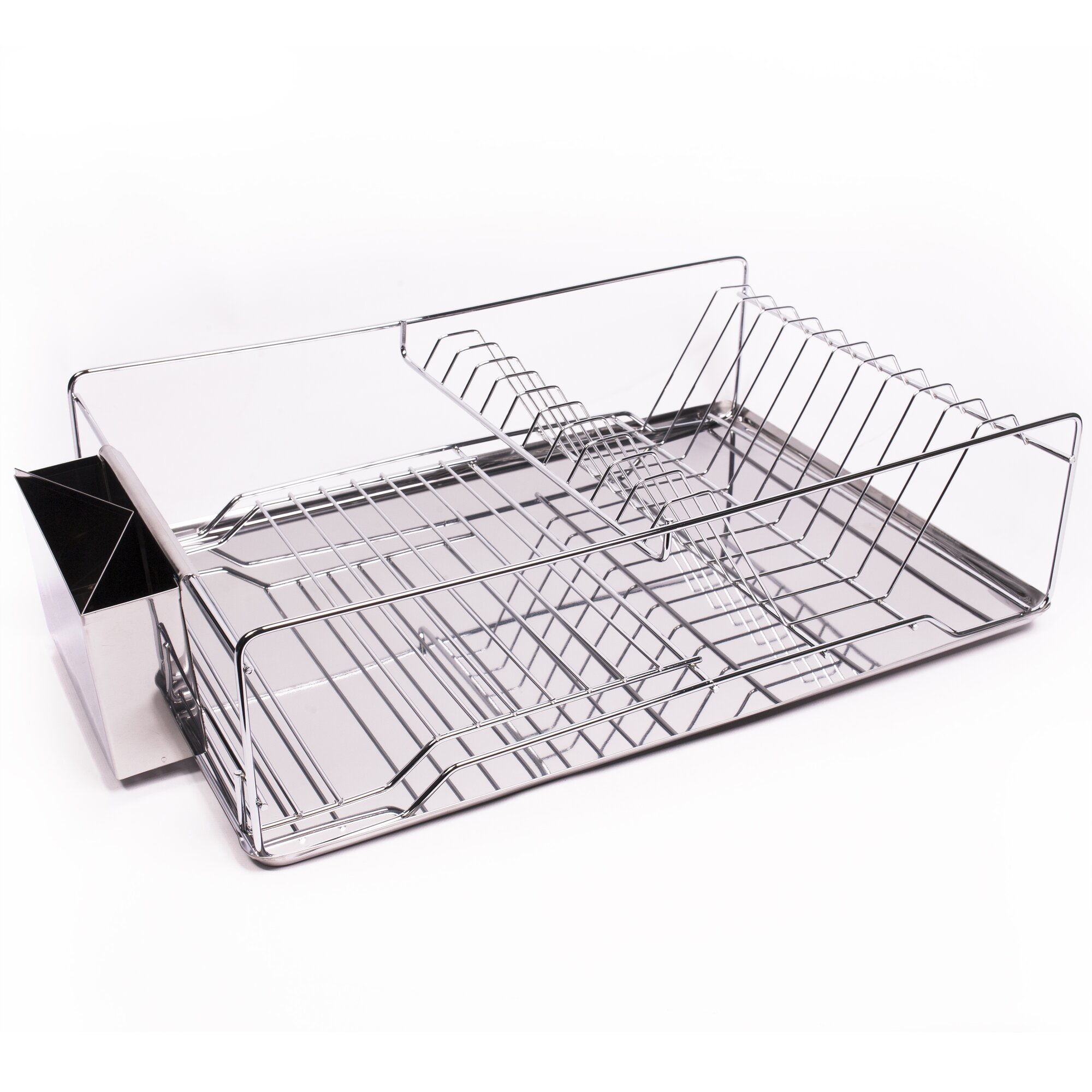 Tiers compact dish rack kitchenware dish drying rack dish drainer -  Rack Home Basics 3 Piece Kitchen Sink Dish Drainer Set