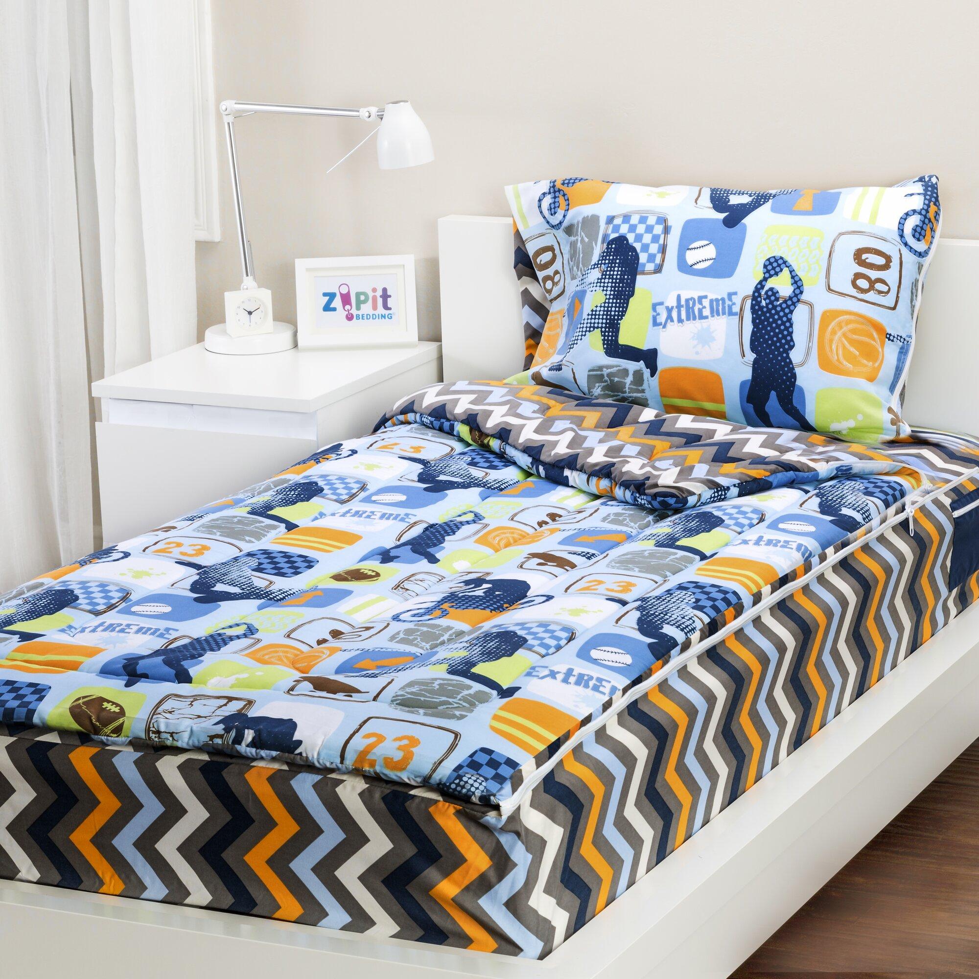 Zipit Bedding Extreme Sports 3 Piece Twin Comforter Set