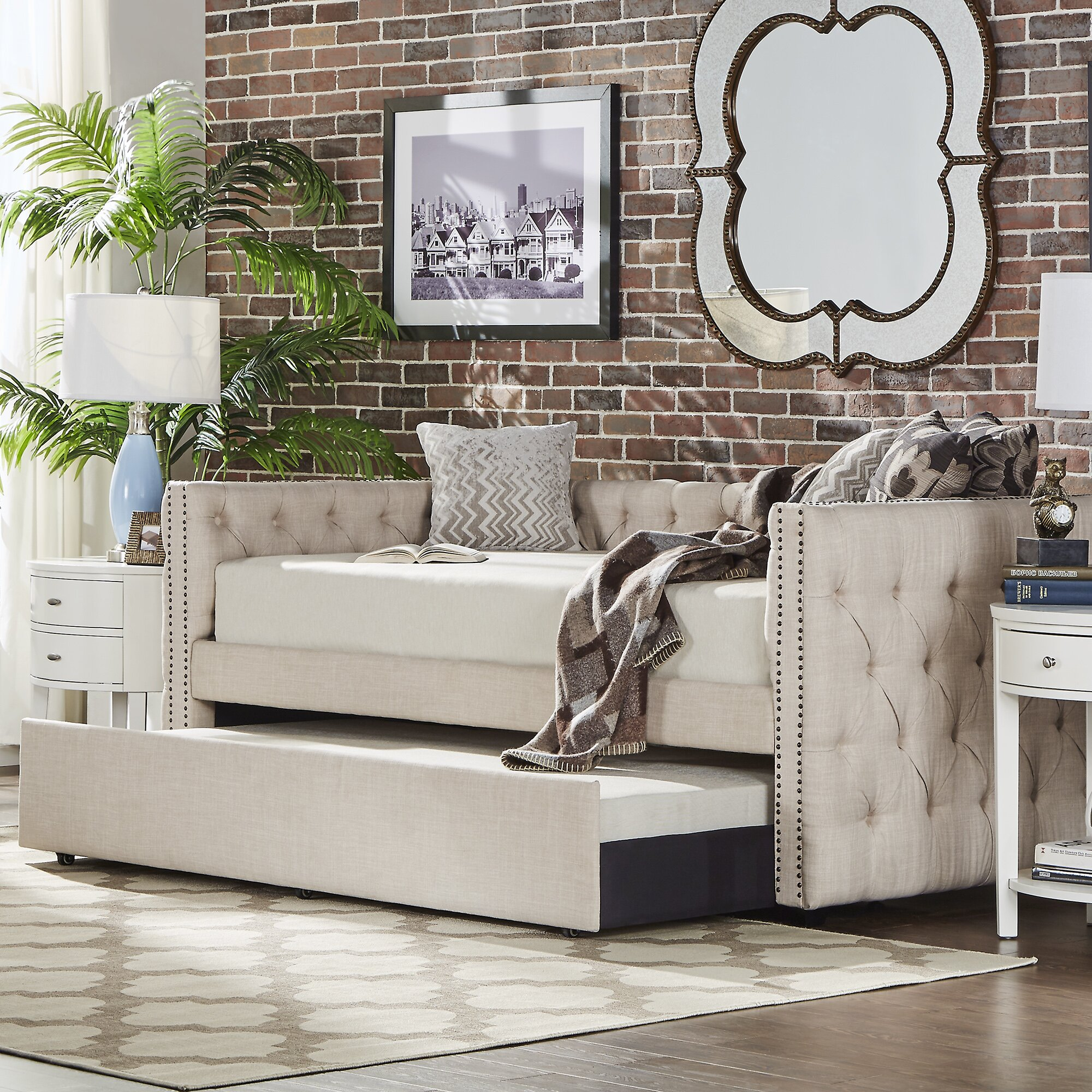 Ghislain Daybed With Trundle Amp Reviews Allmodern