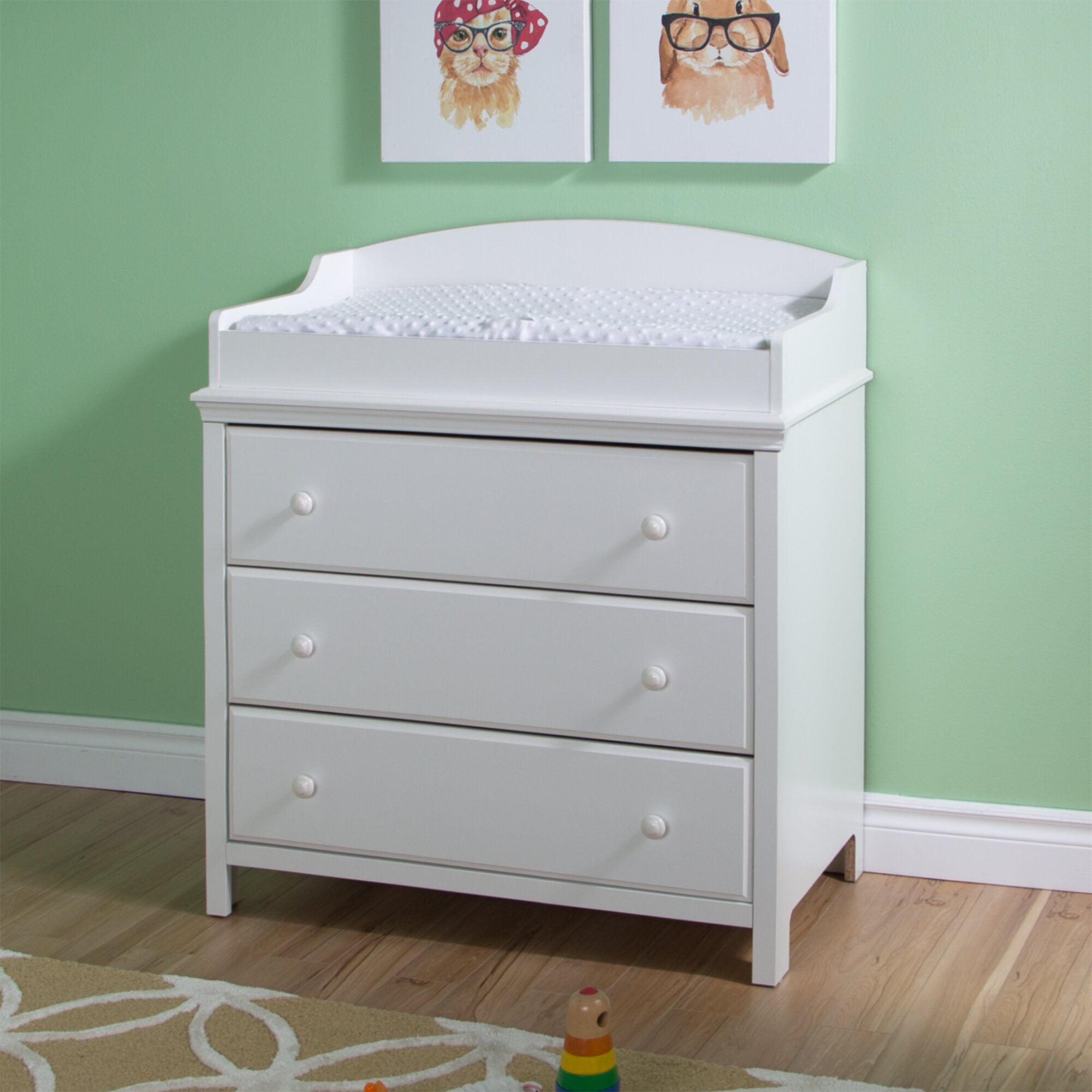 south shore cotton candy changing table reviews wayfair. Black Bedroom Furniture Sets. Home Design Ideas