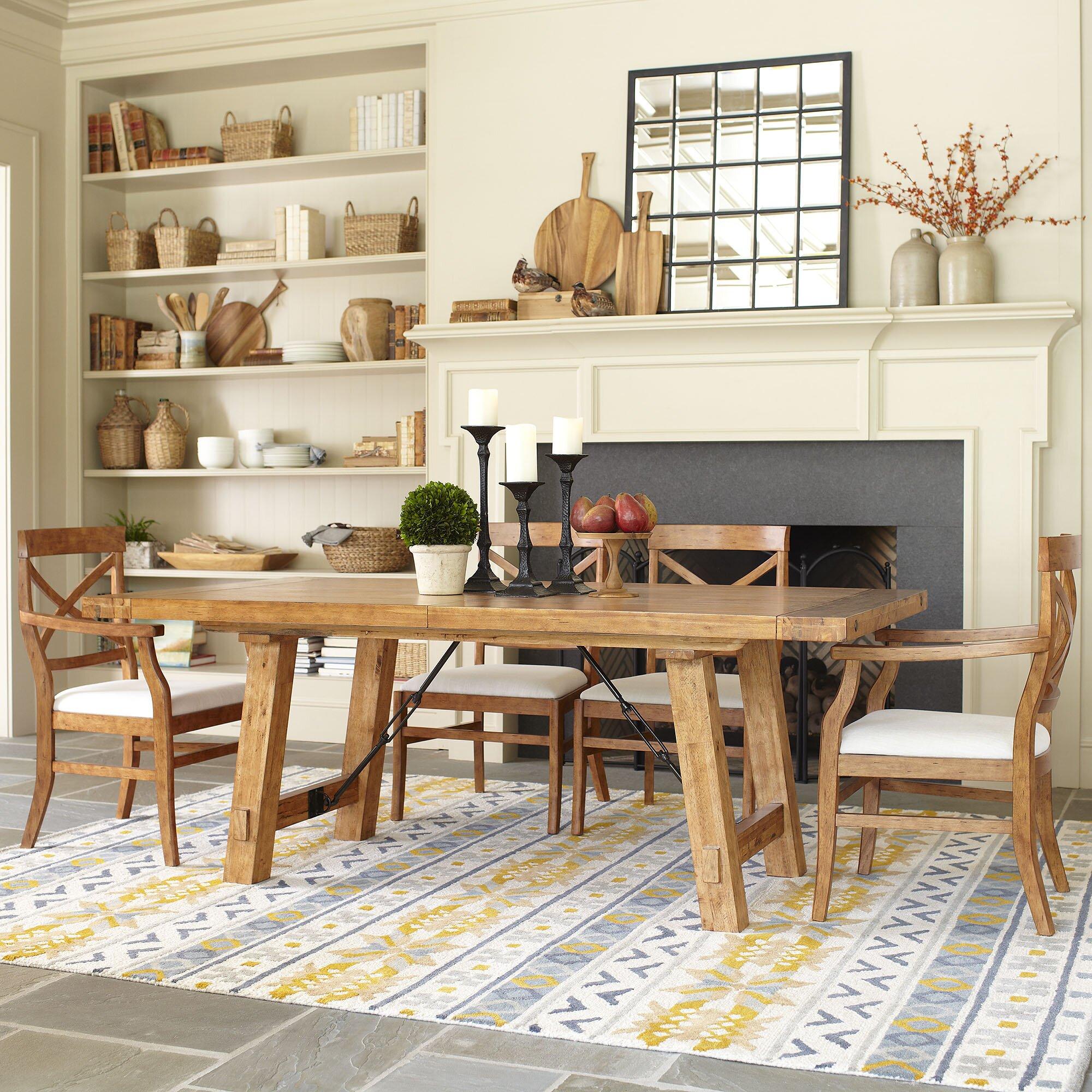 Birch Lane™ Mansfield Extending Dining Table & Reviews   Wayfair