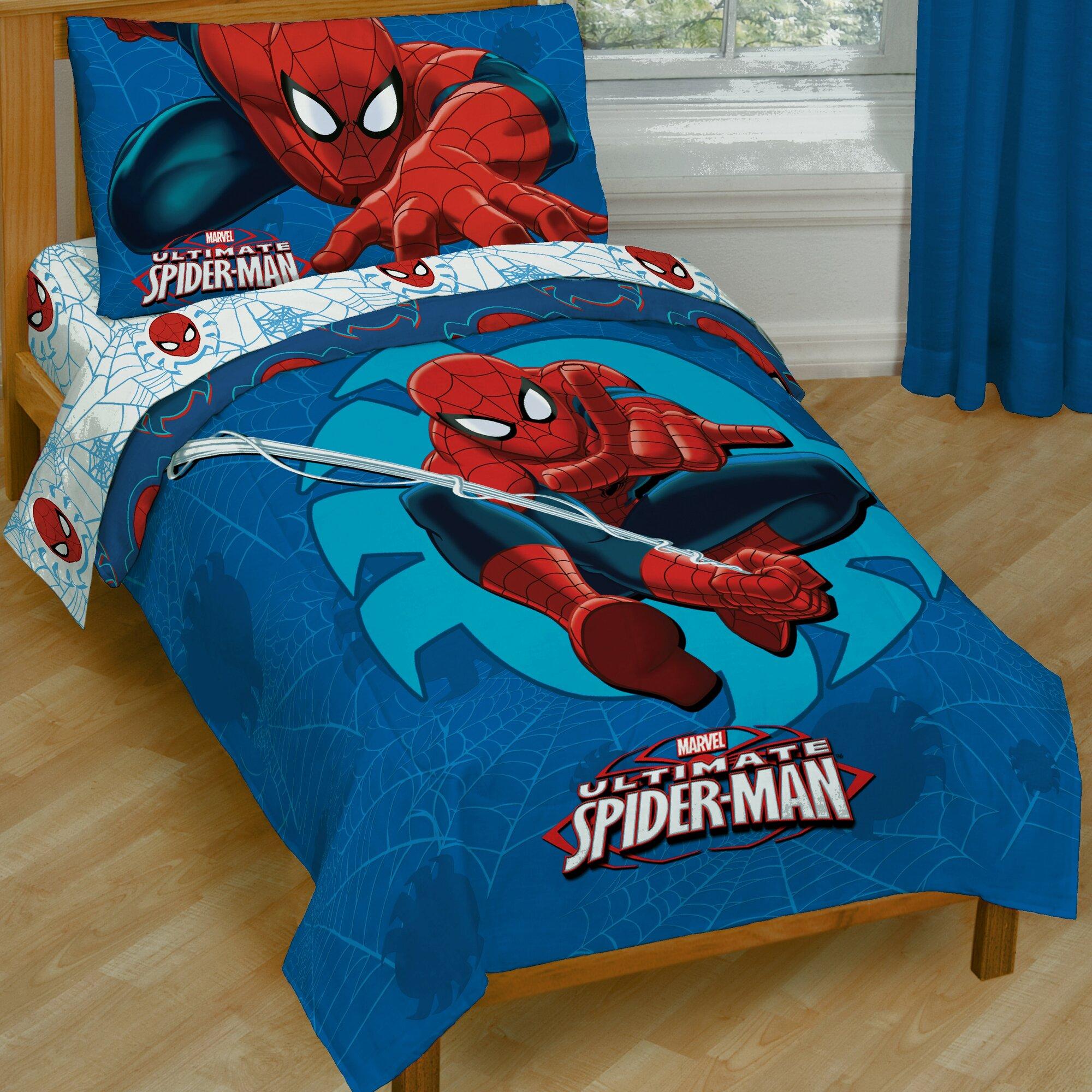 Marvel Spiderman Toddler Bedding Set & Reviews